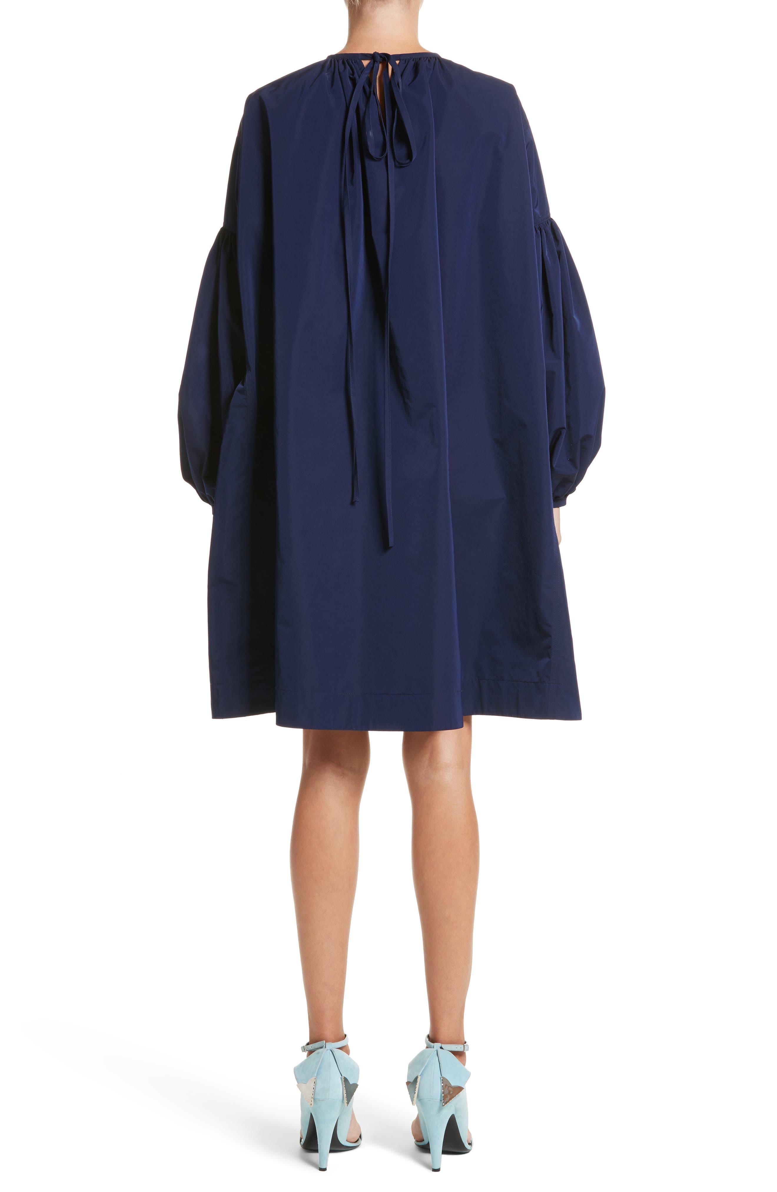 Ruched Sleeve Taffeta Dress,                             Alternate thumbnail 2, color,                             404