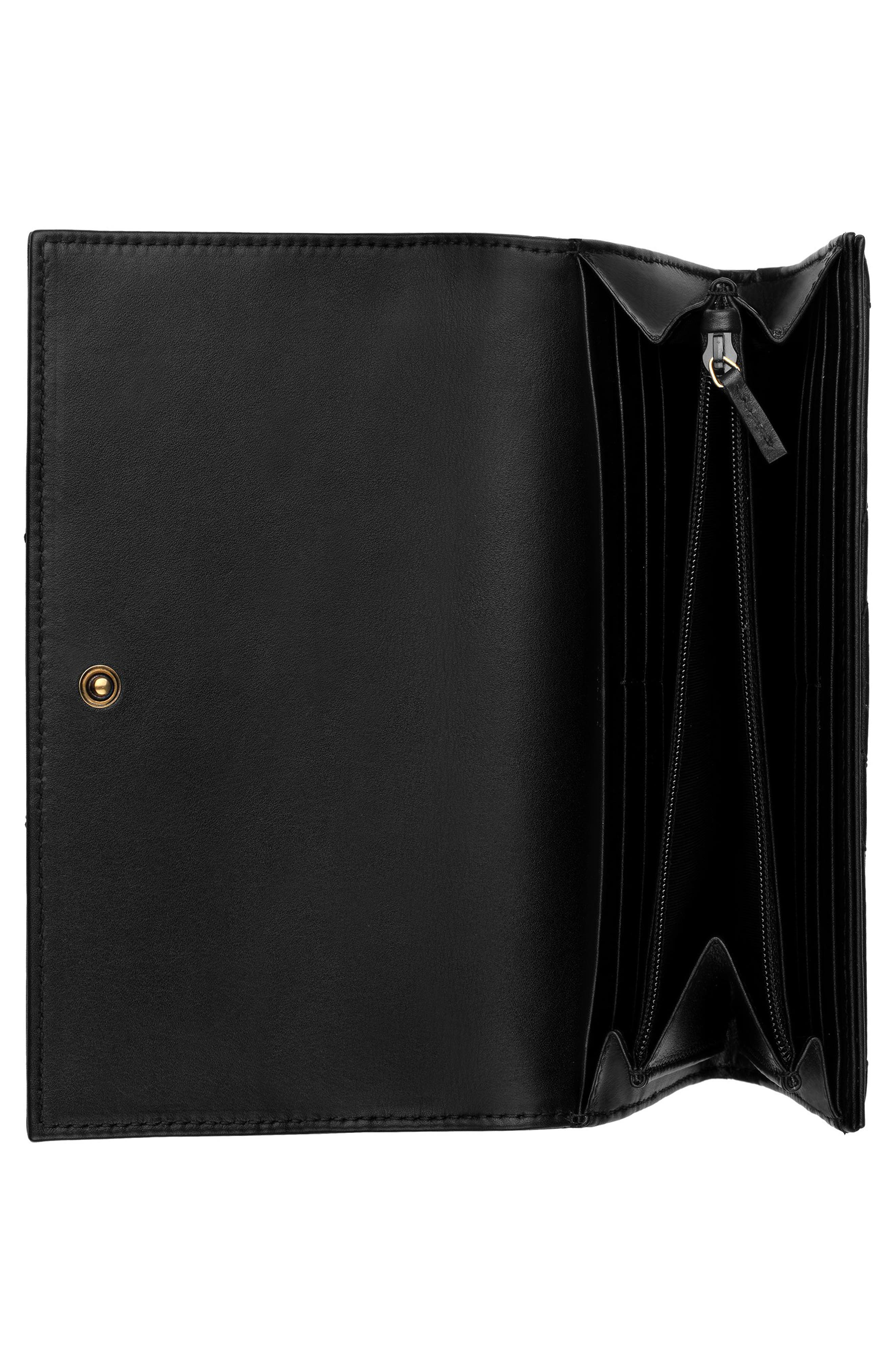 Marmont 2.0 Leather Continental Wallet,                             Alternate thumbnail 2, color,                             NERO