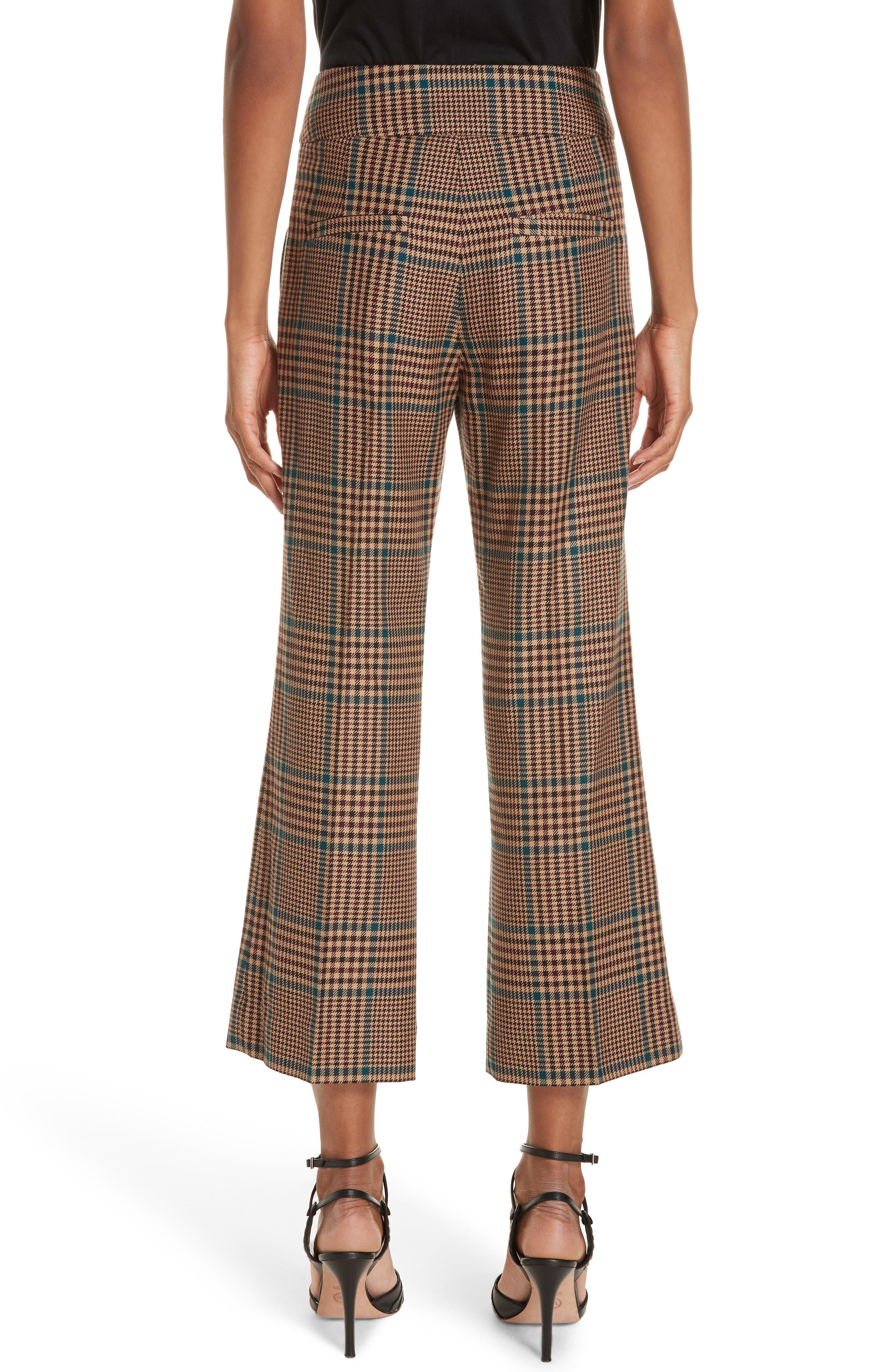 Cormac Plaid Wool Blend Trousers,                             Alternate thumbnail 2, color,                             230