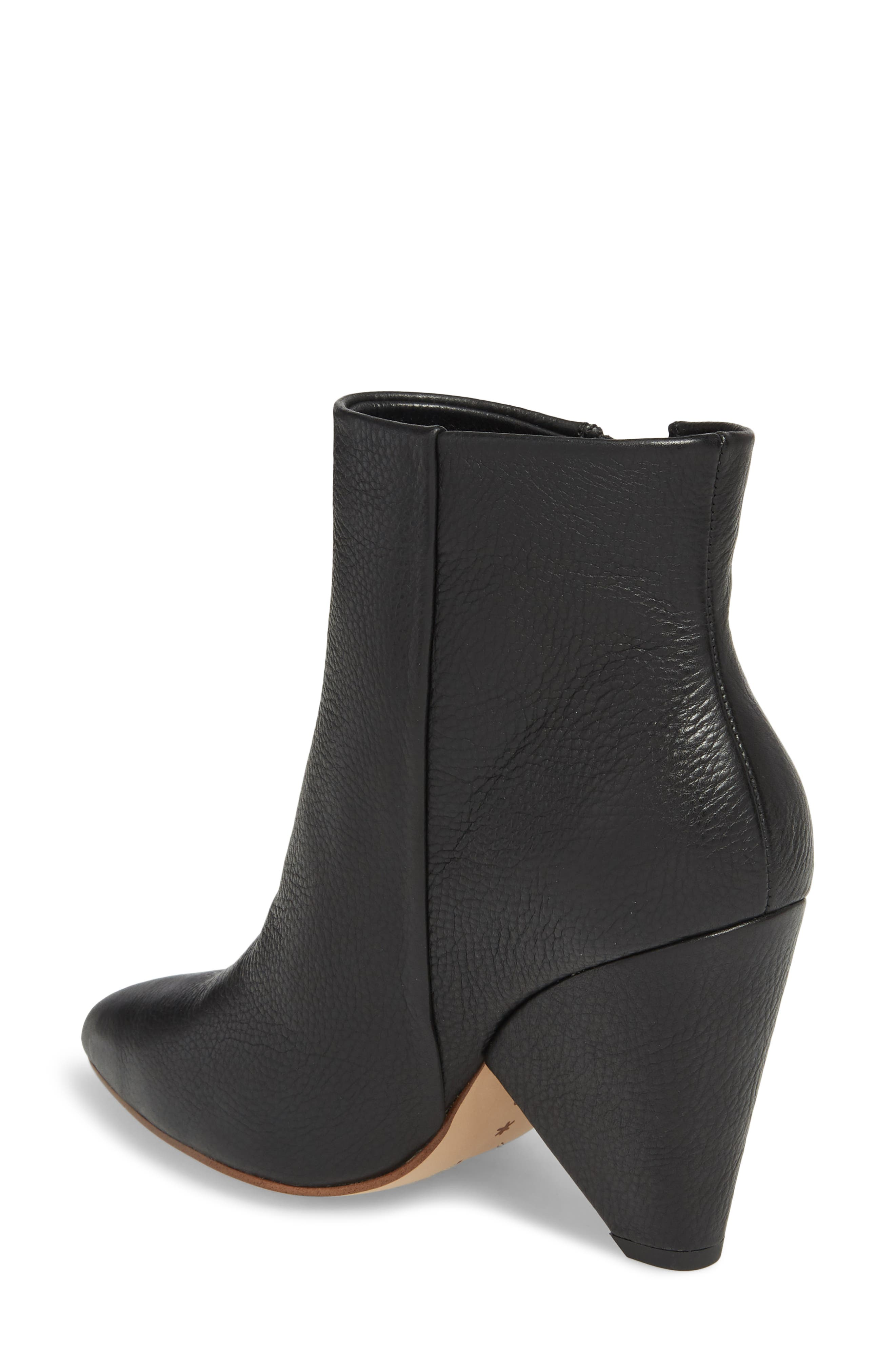 Neva Cone Heel Bootie,                             Alternate thumbnail 2, color,                             002