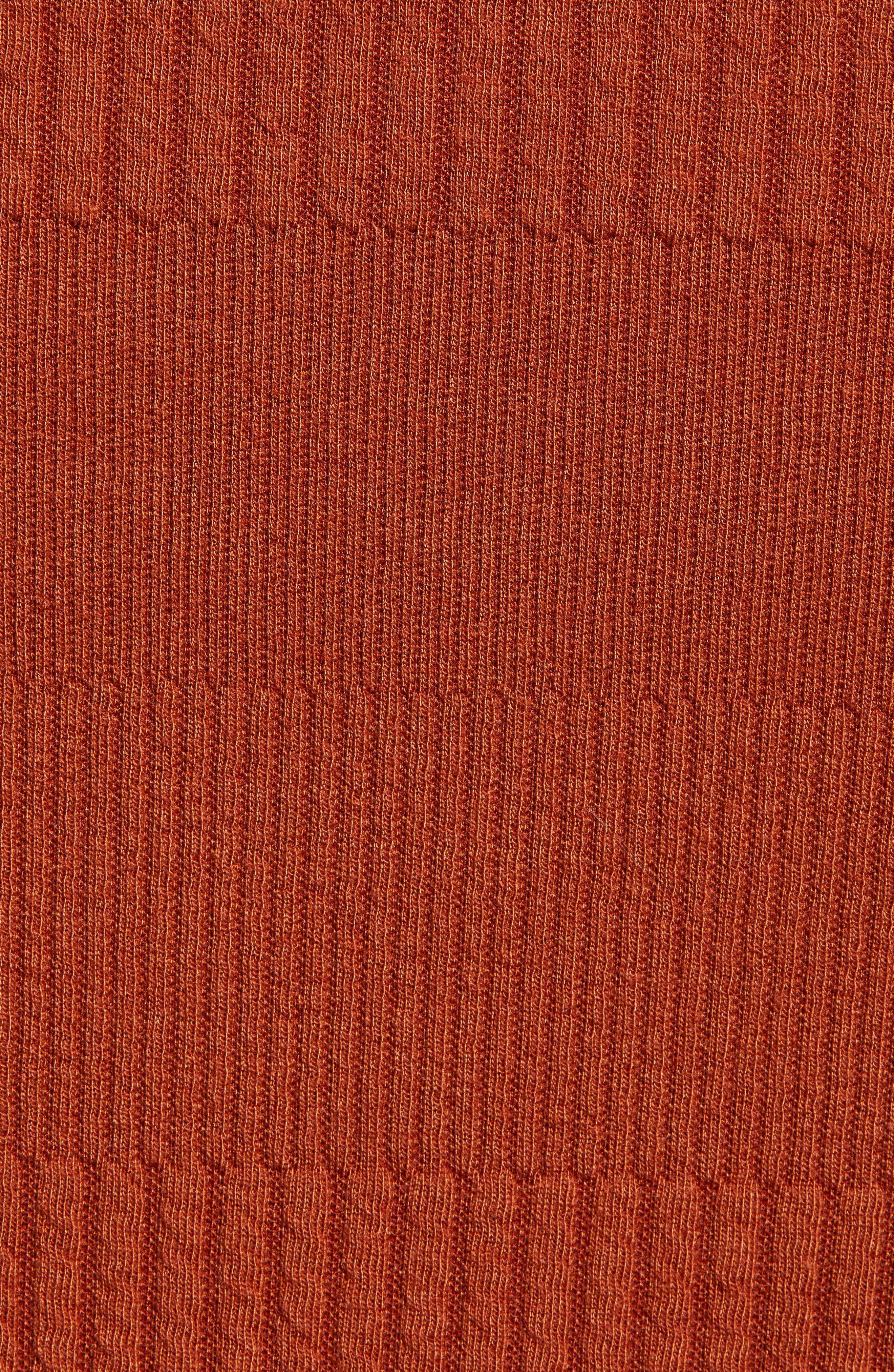 Midi Pencil Skirt,                             Alternate thumbnail 5, color,                             BROWN SPICE