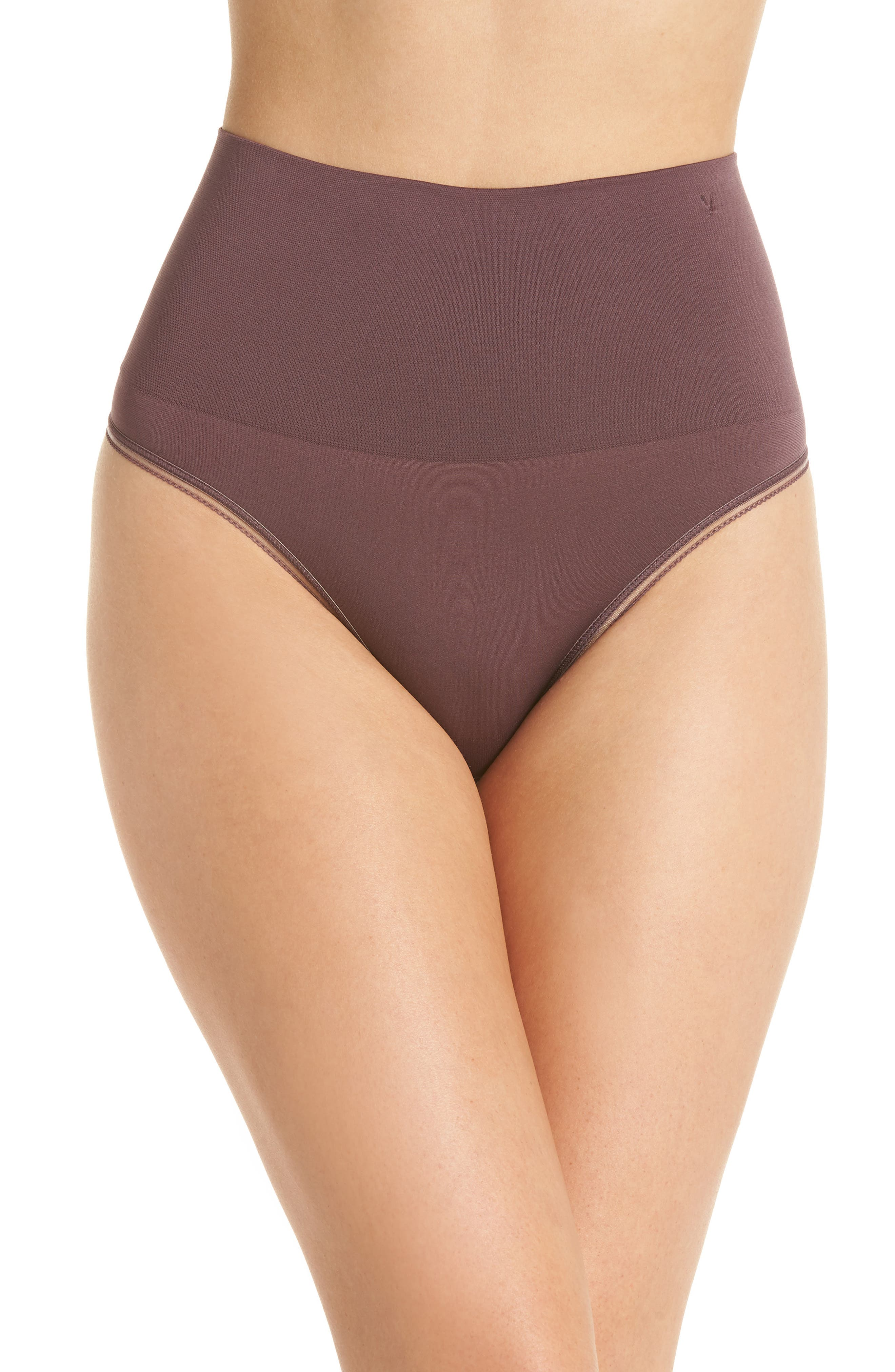 Ultralight Seamless Shaping Thong,                         Main,                         color, HUCKLEBERRY
