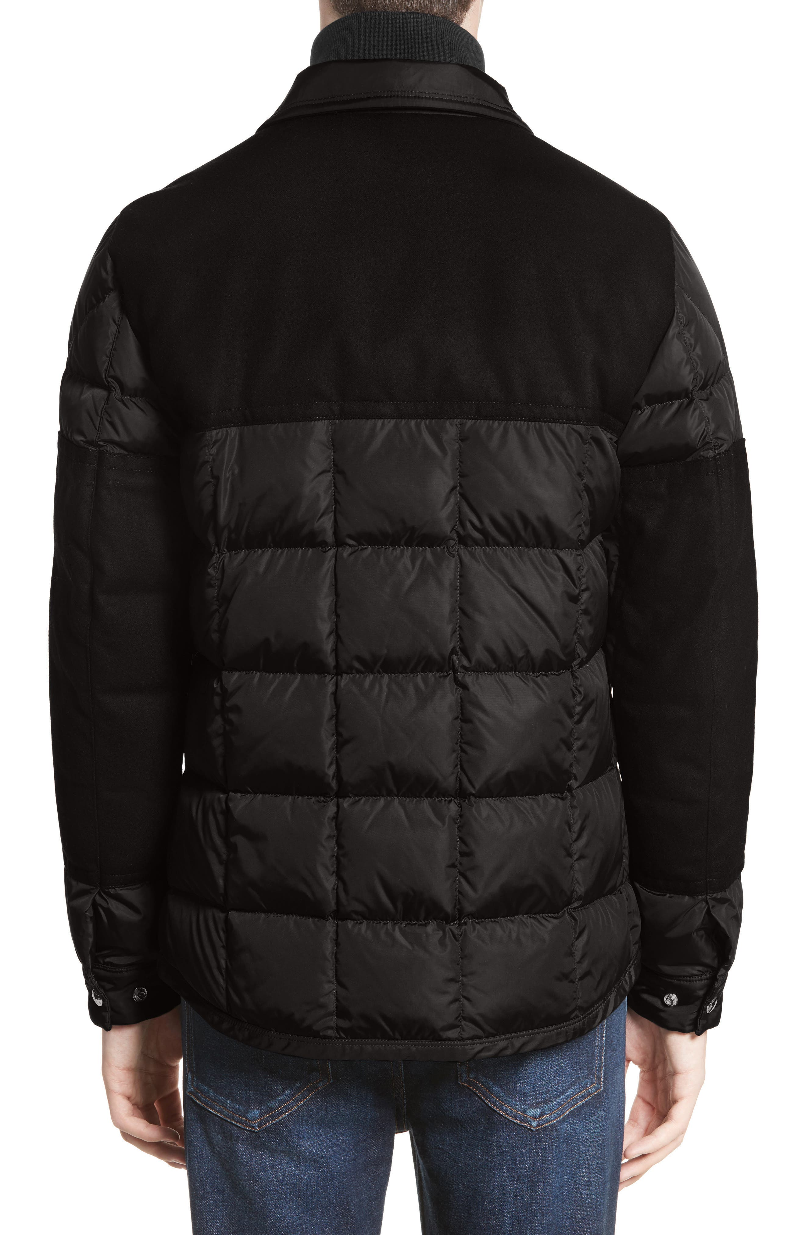 Clovis Mixed Media Quilted Down Jacket,                             Alternate thumbnail 2, color,                             001