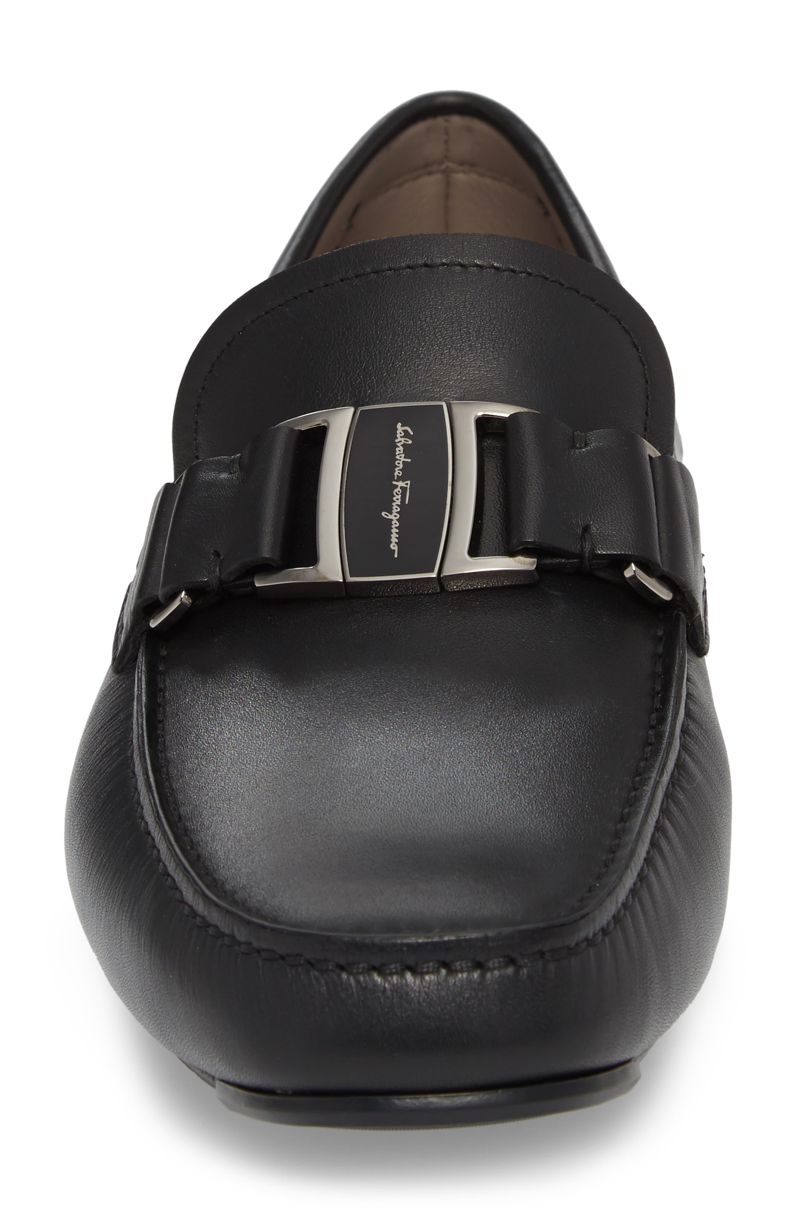 Sardegna Driving Shoe,                             Alternate thumbnail 4, color,                             BLACK LEATHER