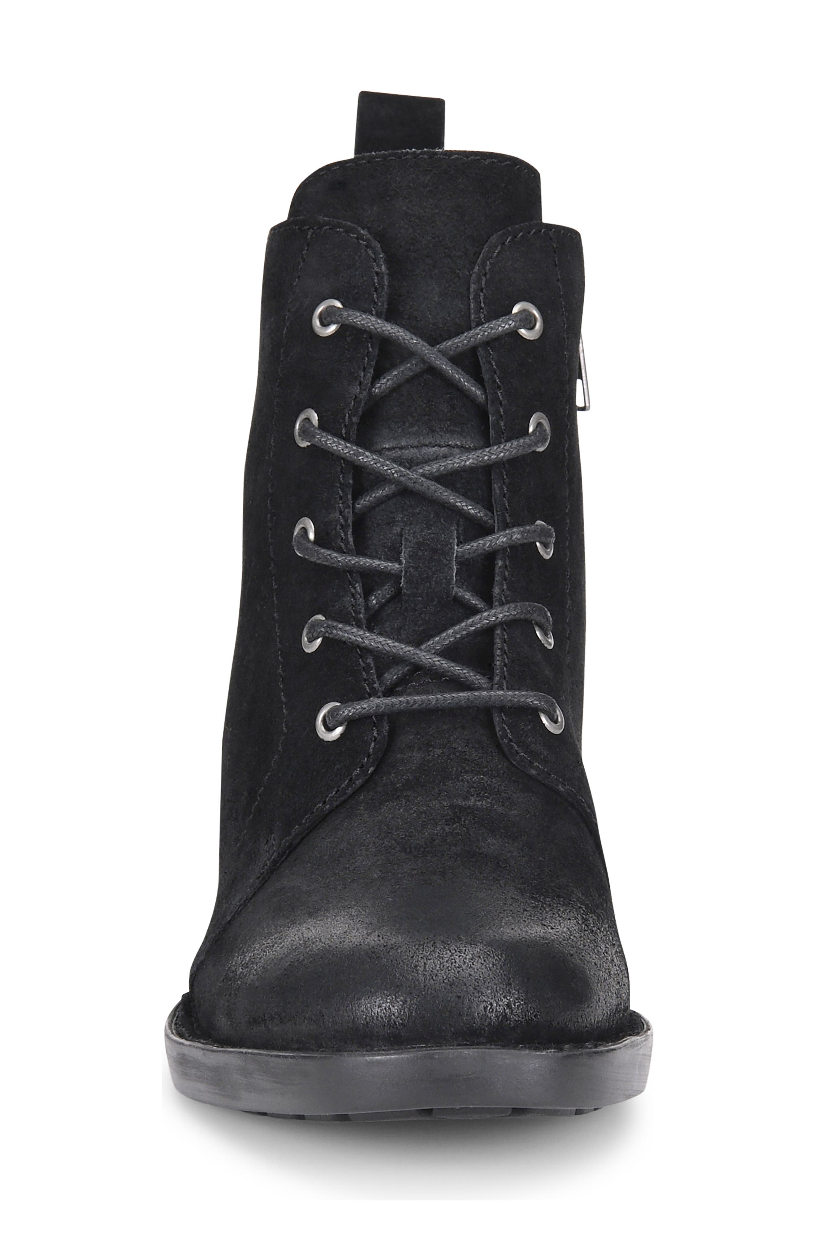 Troye Vintage Lace-Up Boot,                             Alternate thumbnail 4, color,                             002