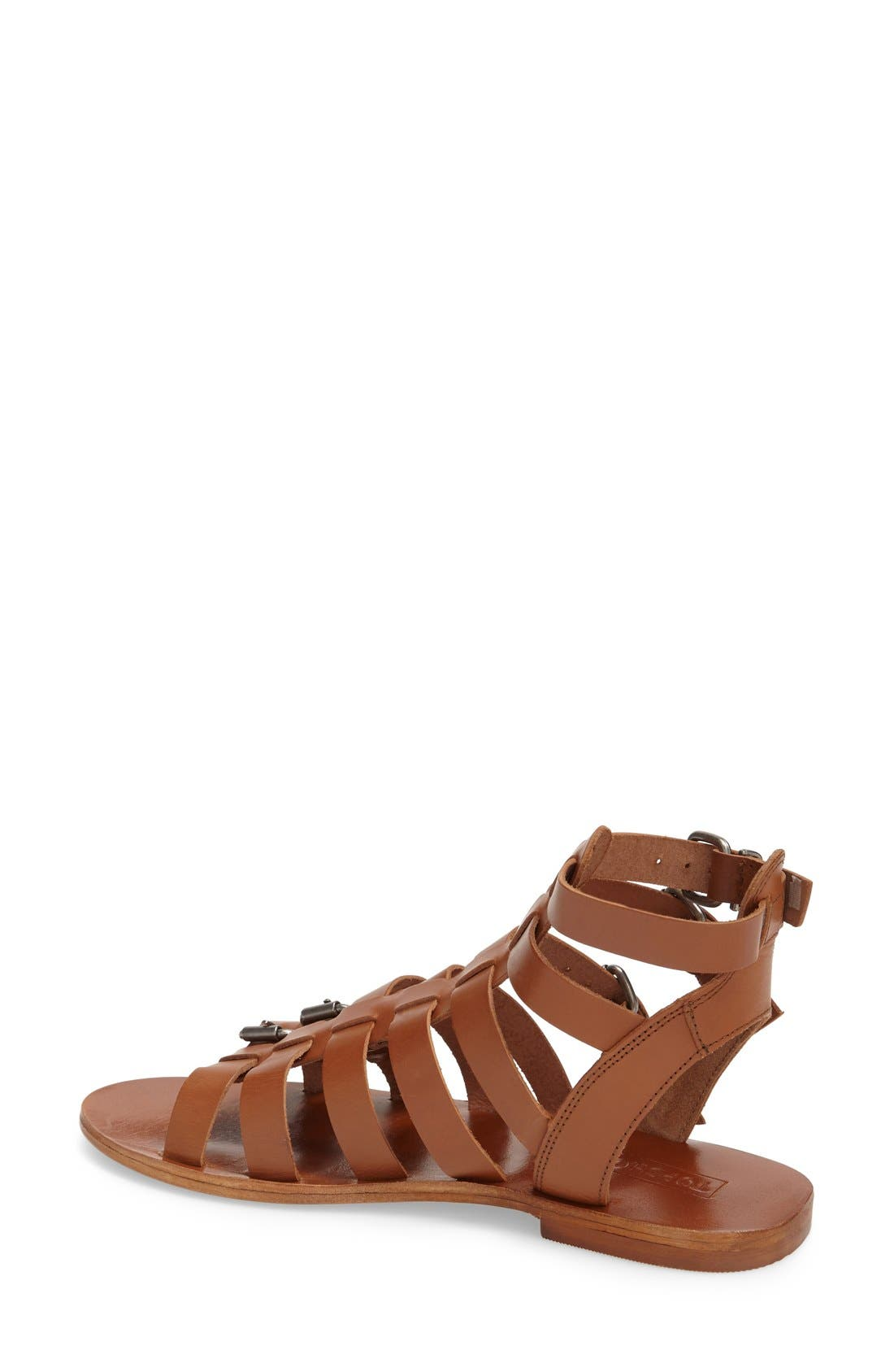 'Favorite' Flat Gladiator Sandal,                             Alternate thumbnail 4, color,