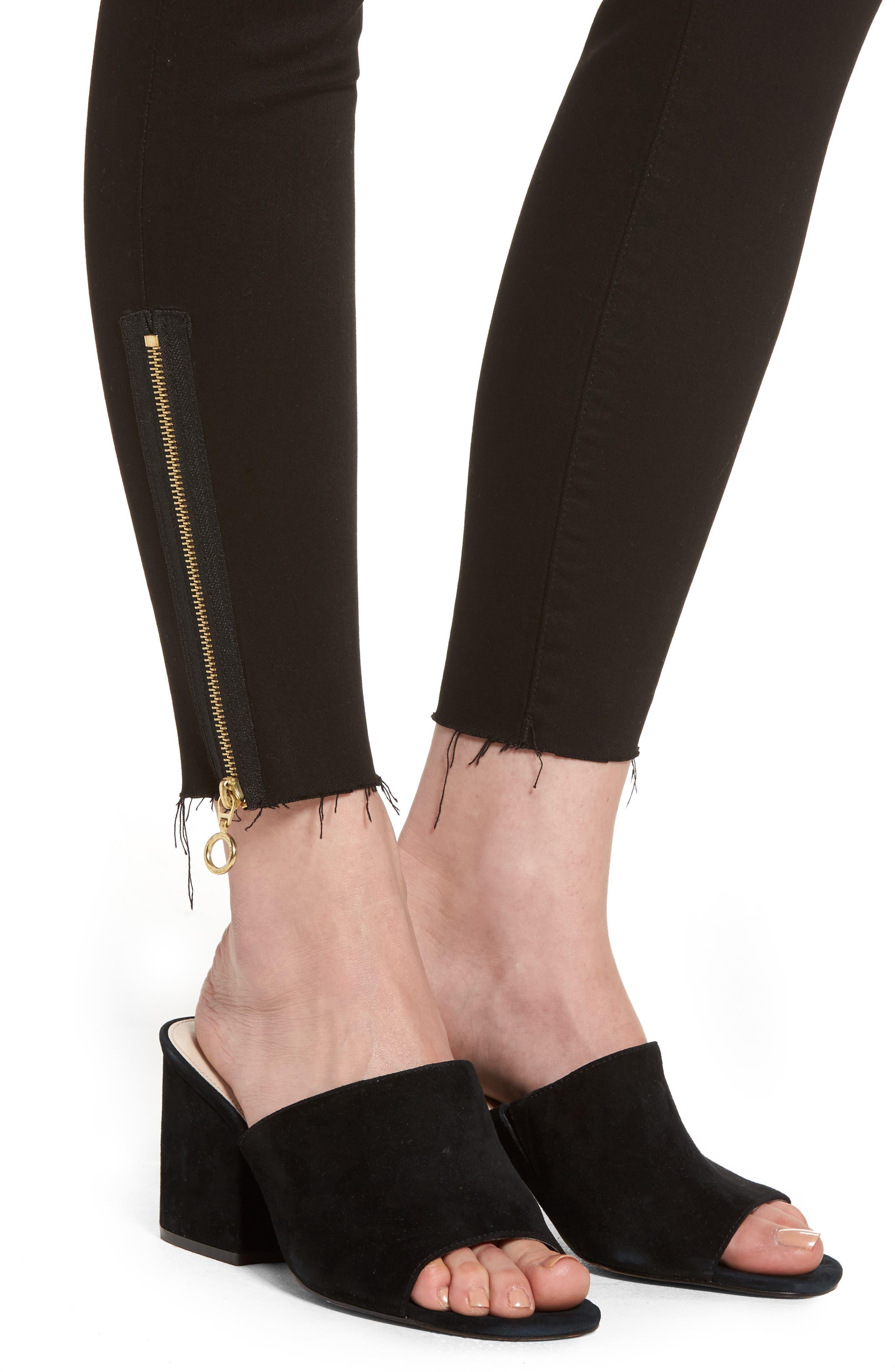 Farrow Instaslim High Waist Ankle Skinny Jeans,                             Alternate thumbnail 4, color,