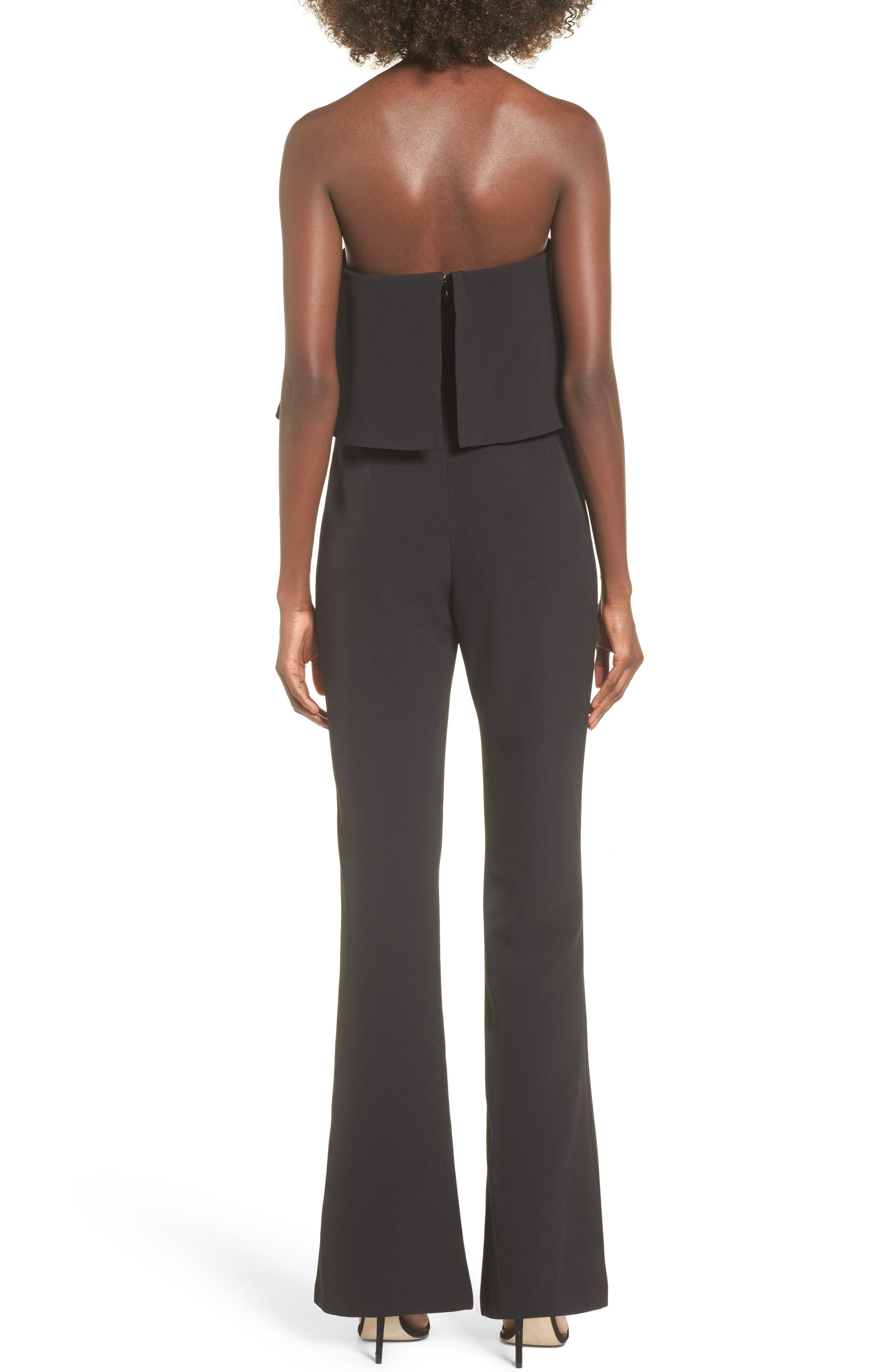 Popover Strapless Jumpsuit,                             Alternate thumbnail 2, color,                             001