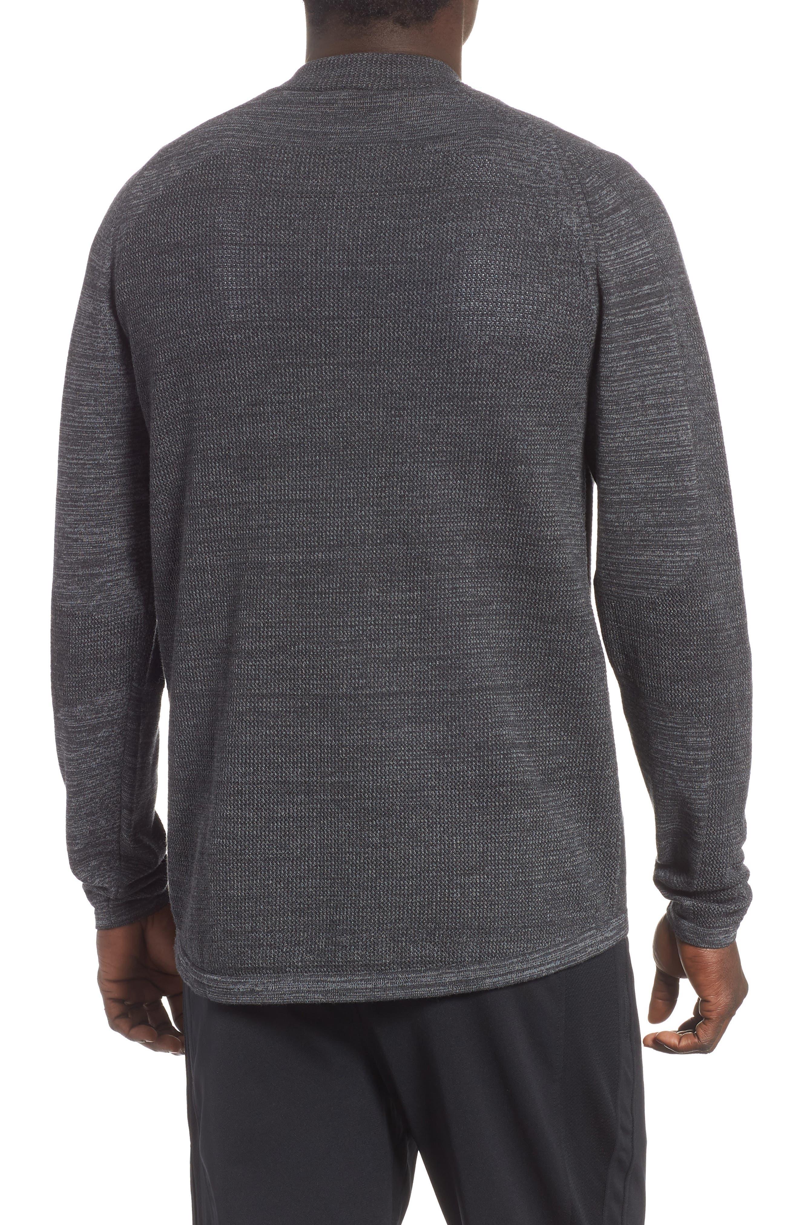 Tech Sweater Baseball Jacket,                             Alternate thumbnail 2, color,                             BLACK OXIDE SPACEDYE