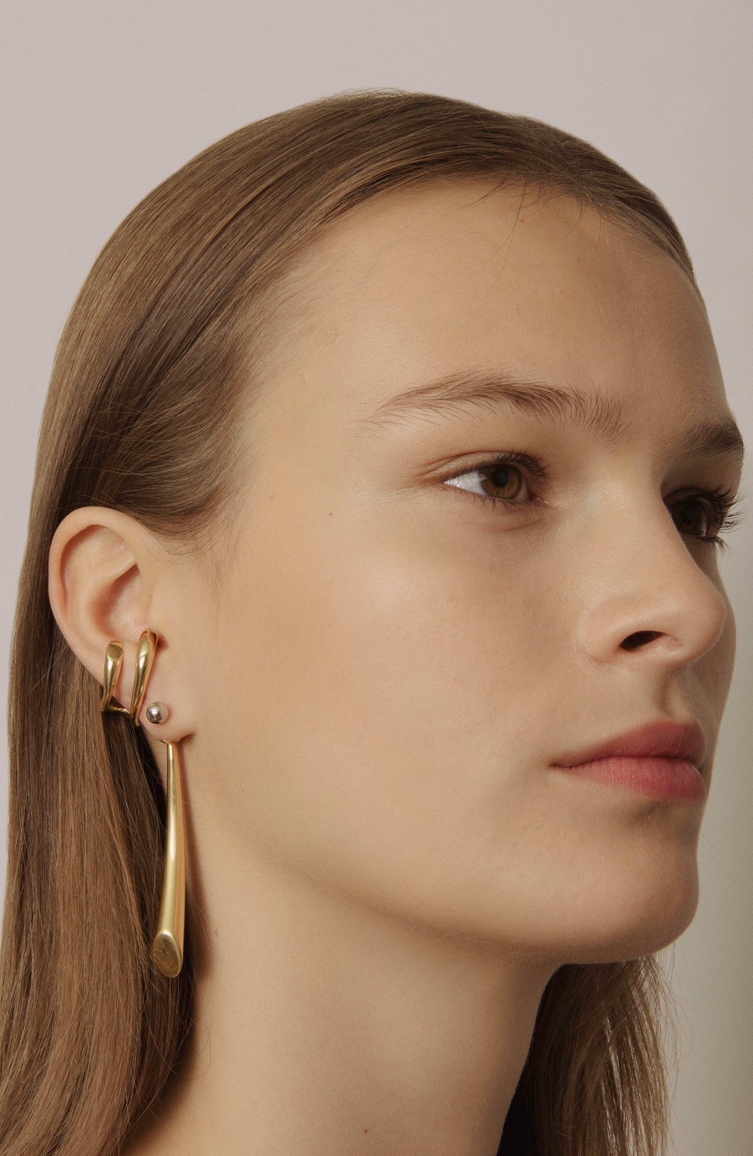 Dali Vermeil Ear Cuff,                             Alternate thumbnail 5, color,