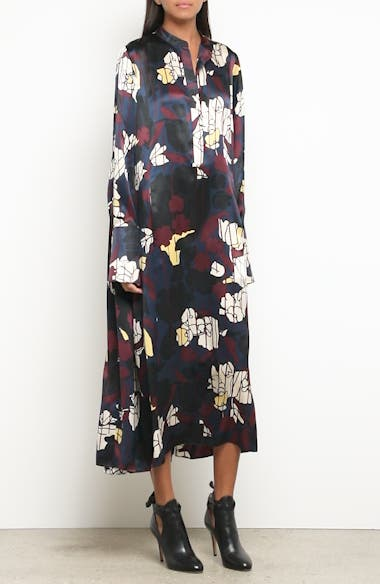 Anwyn Floral Silk Dress, video thumbnail