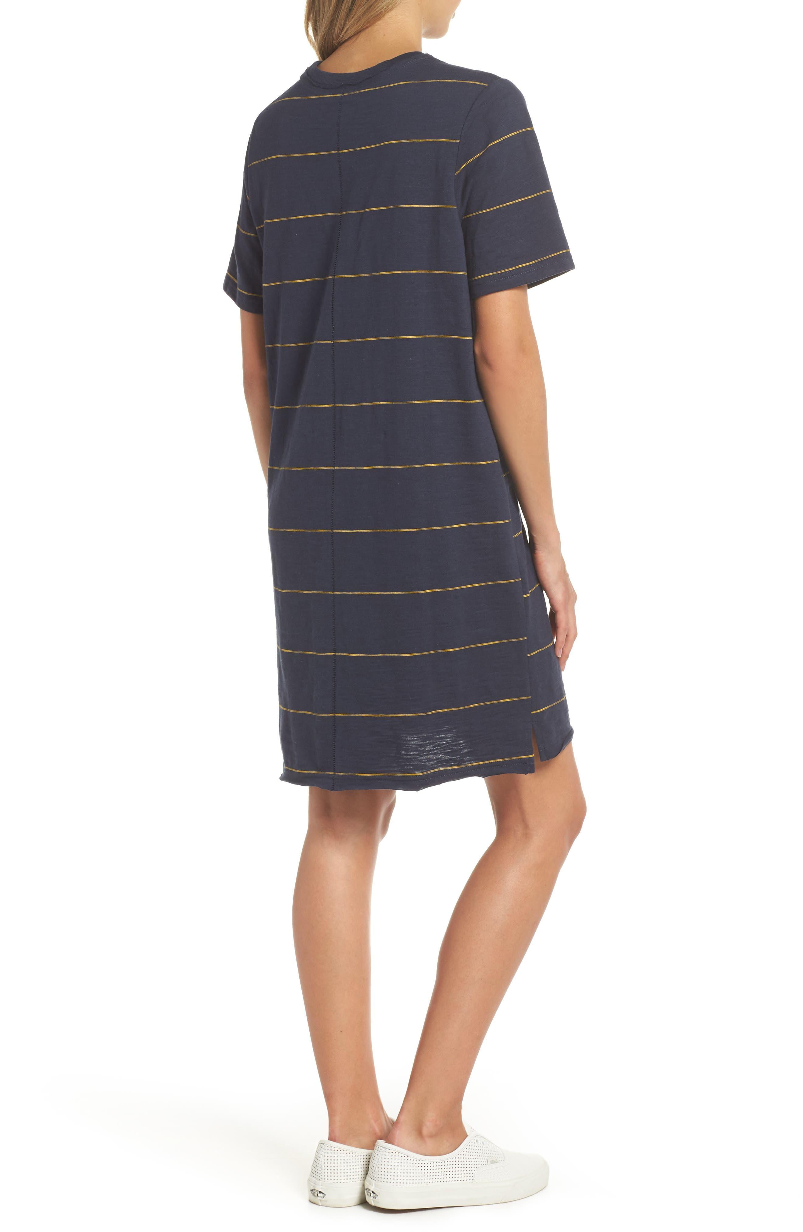 Sunset Stripe T-Shirt Dress,                             Alternate thumbnail 2, color,