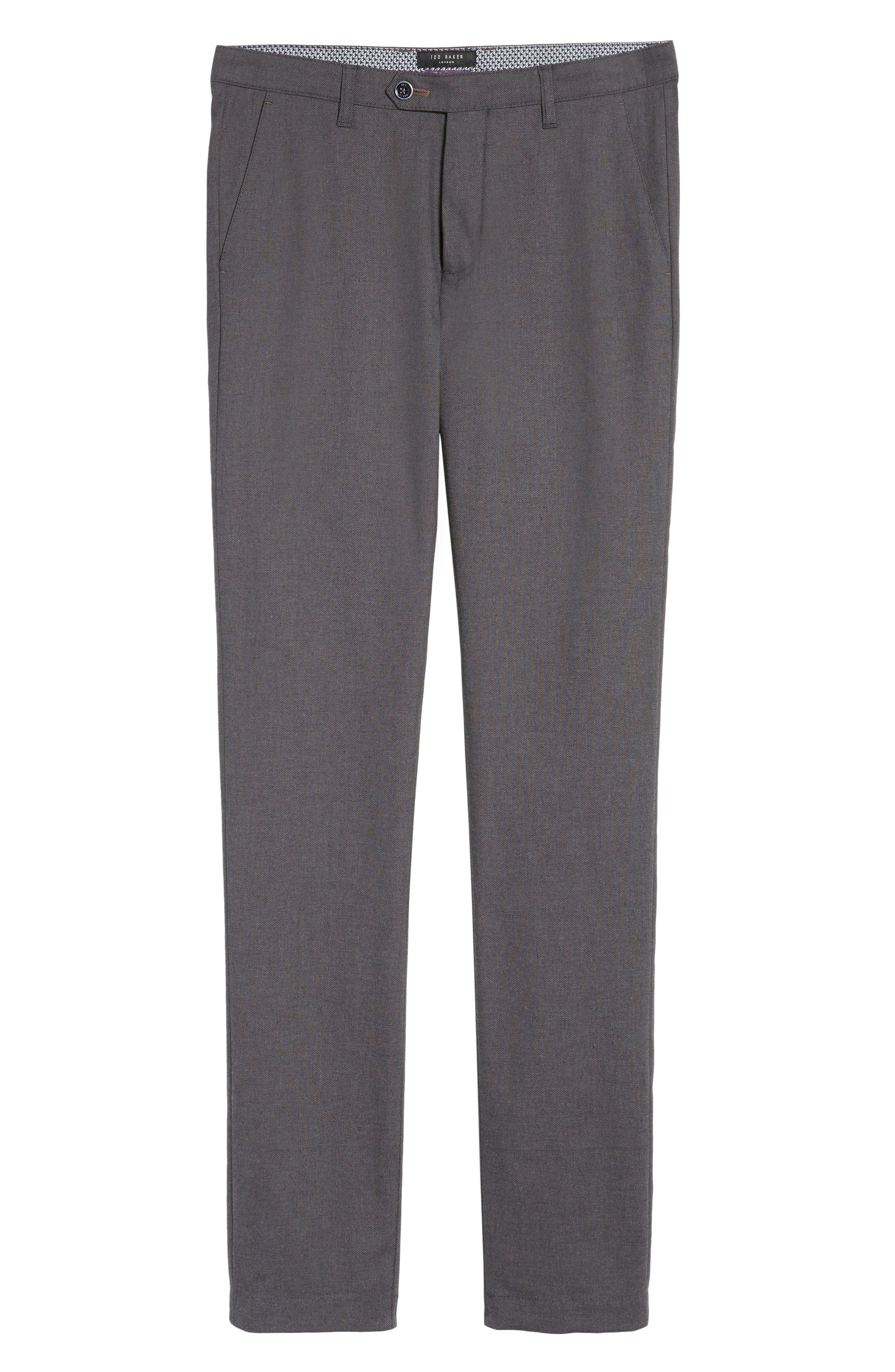 Holldet Flat Front Stretch Solid Cotton Pants,                             Alternate thumbnail 6, color,                             020
