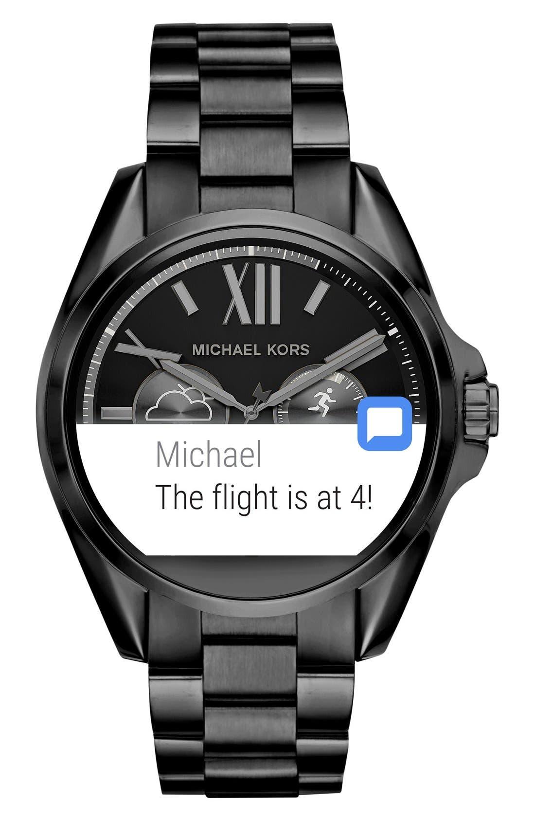 MICHAEL Michael Kors Bradshaw Access Bracelet Smart Watch, 45mm,                             Alternate thumbnail 15, color,
