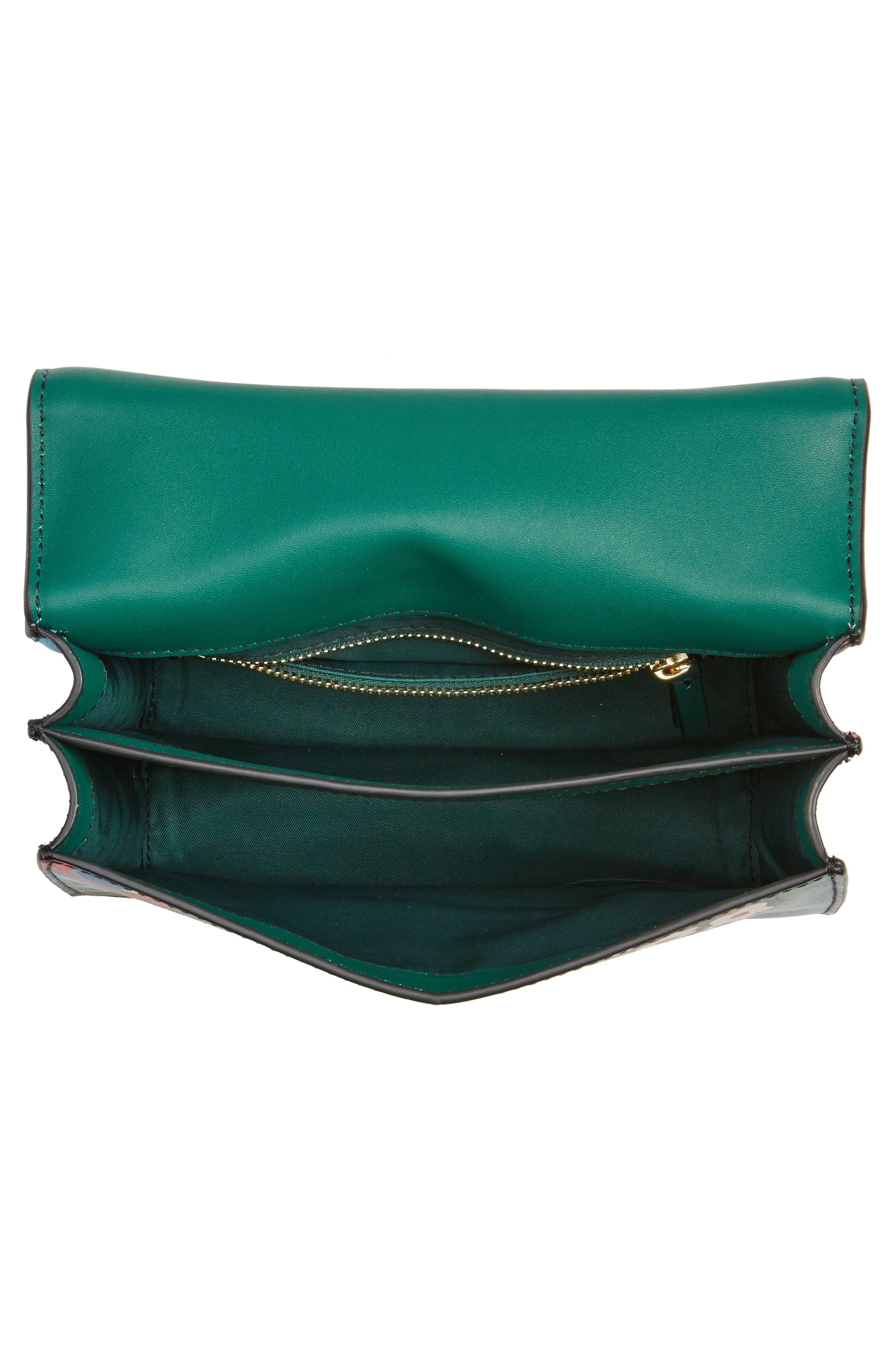 Mini Juliette Leather Top Handle Satchel,                             Alternate thumbnail 4, color,                             300