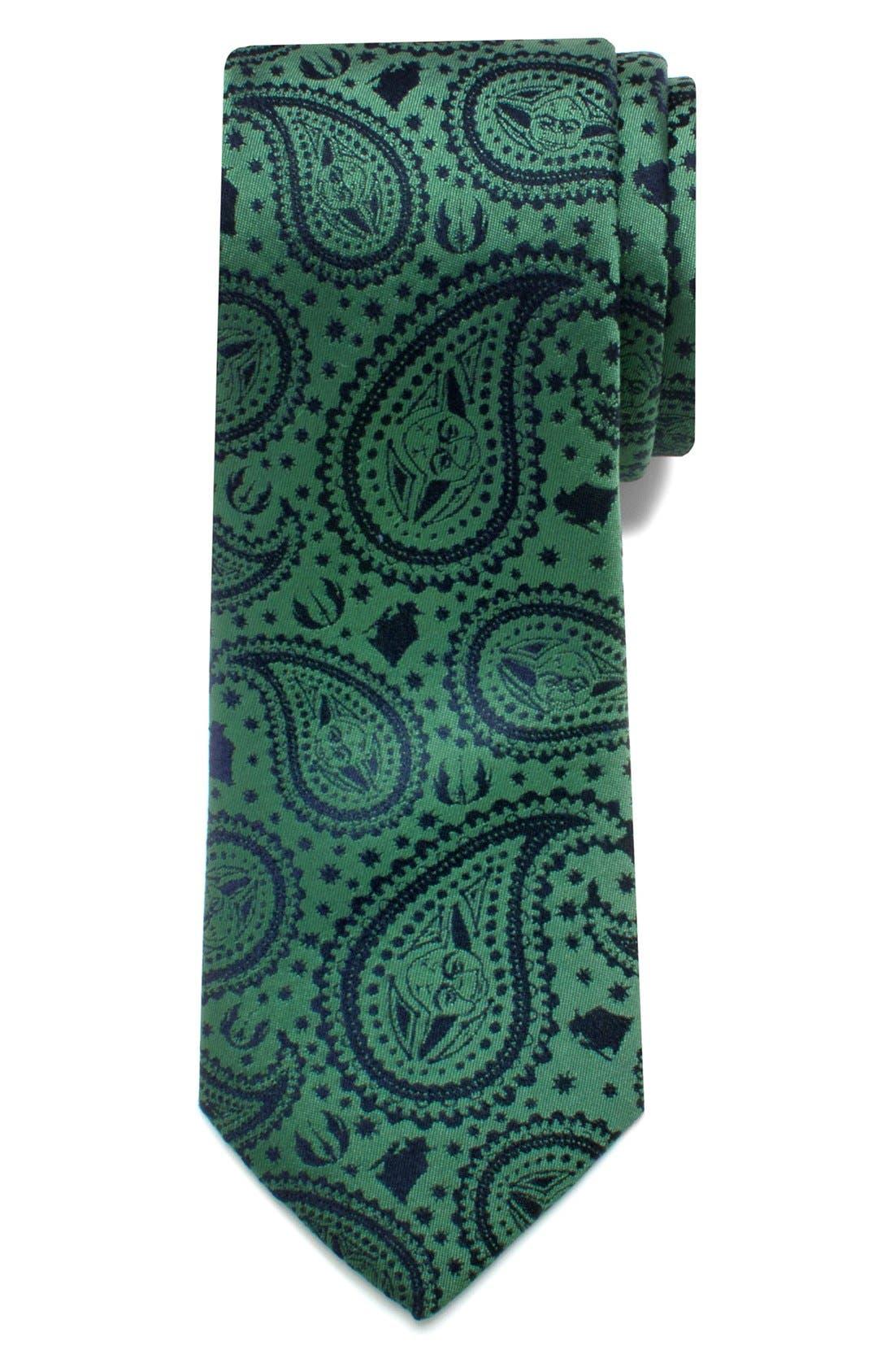 'Star Wars<sup>™</sup> - Yoda Paisley' Silk Tie,                         Main,                         color, 300