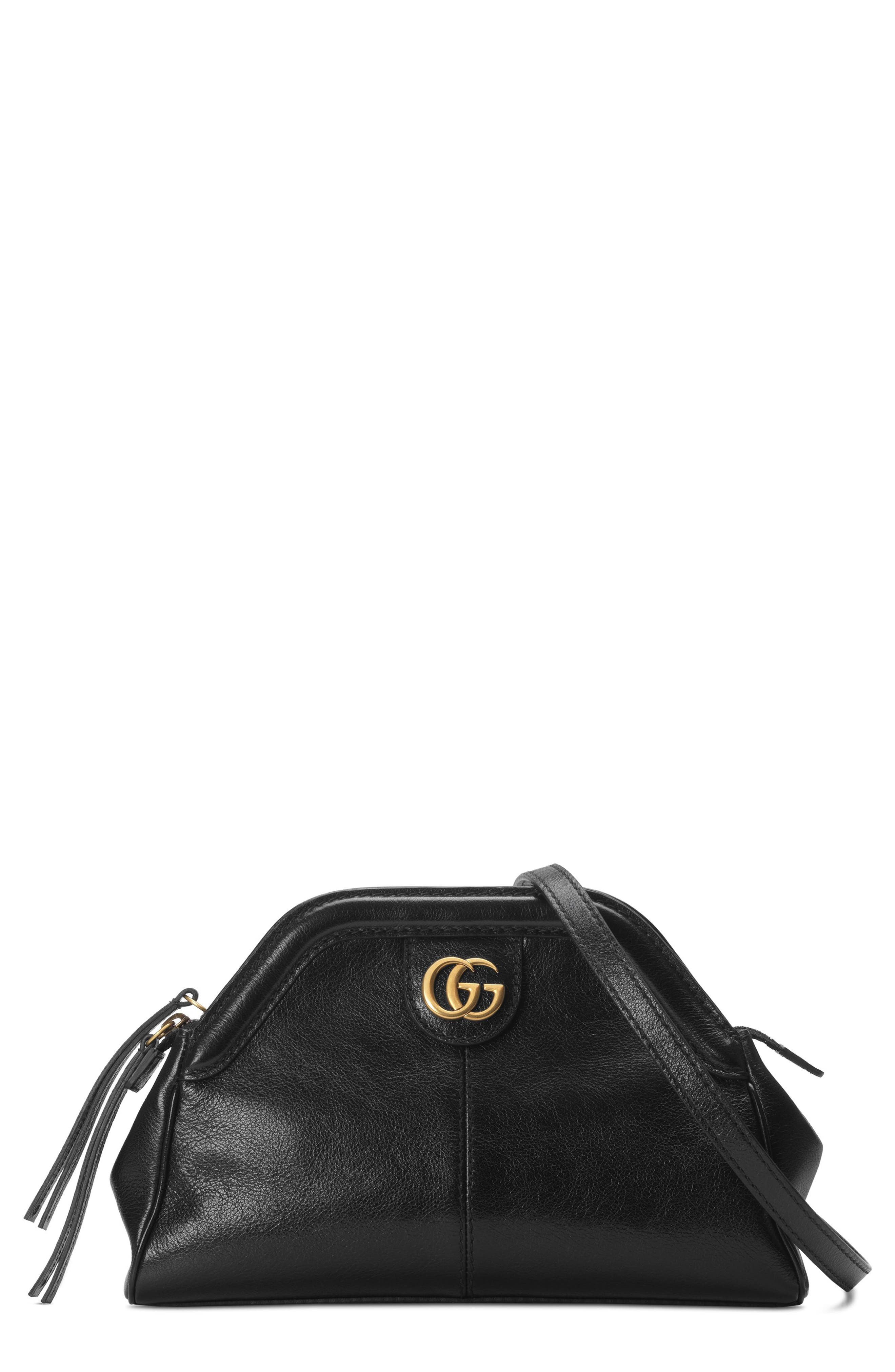 Small RE(BELLE) Leather Crossbody Bag,                             Main thumbnail 1, color,                             NERO