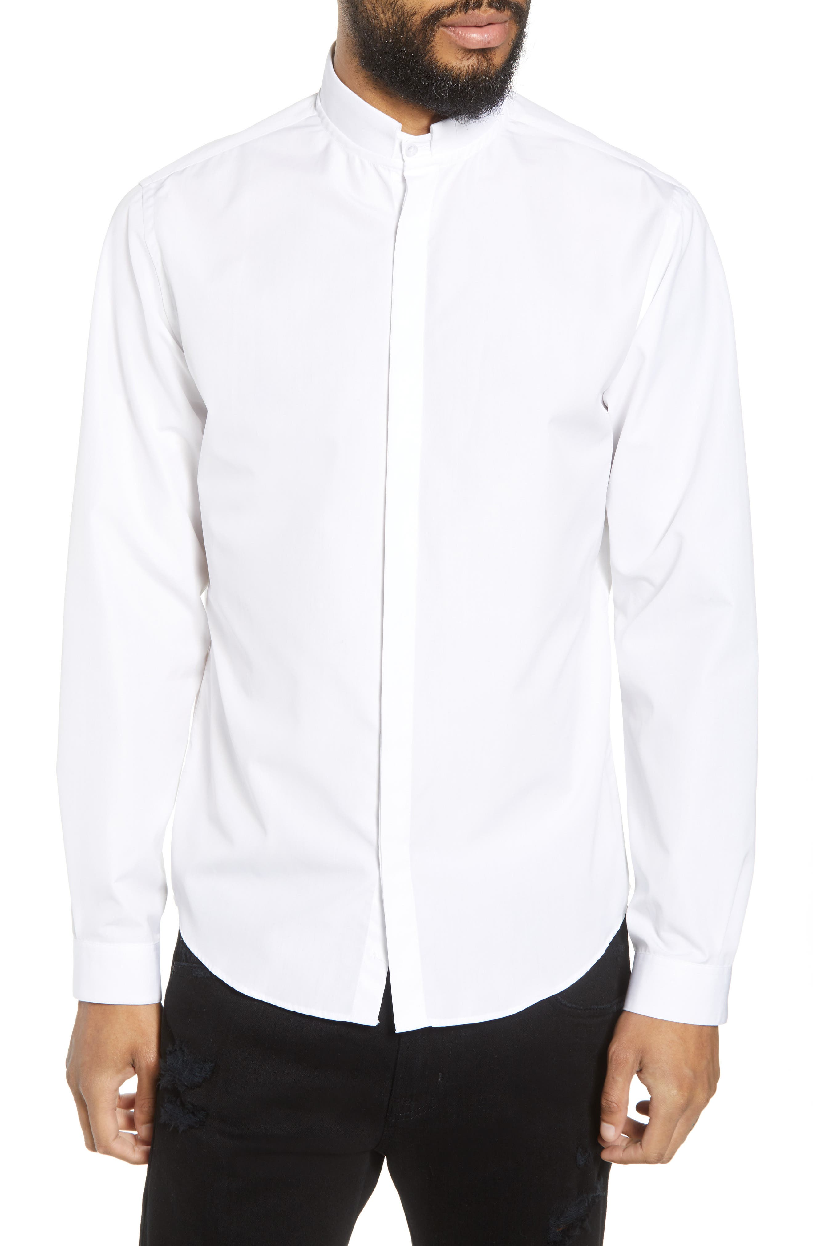 Slim Fit Solid Shirt,                             Main thumbnail 1, color,                             100