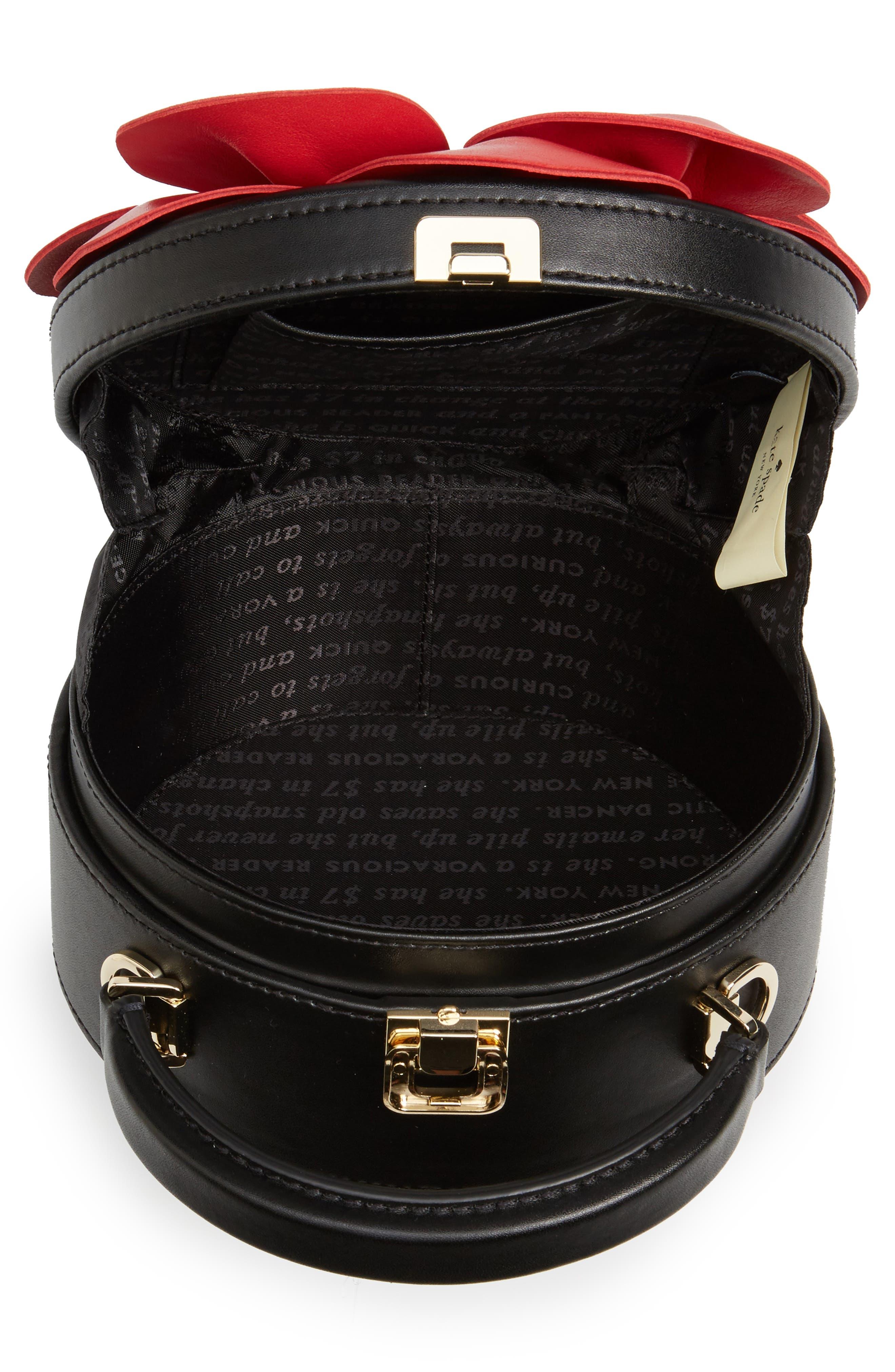 ooh la la poppy leather crossbody bag,                             Alternate thumbnail 4, color,