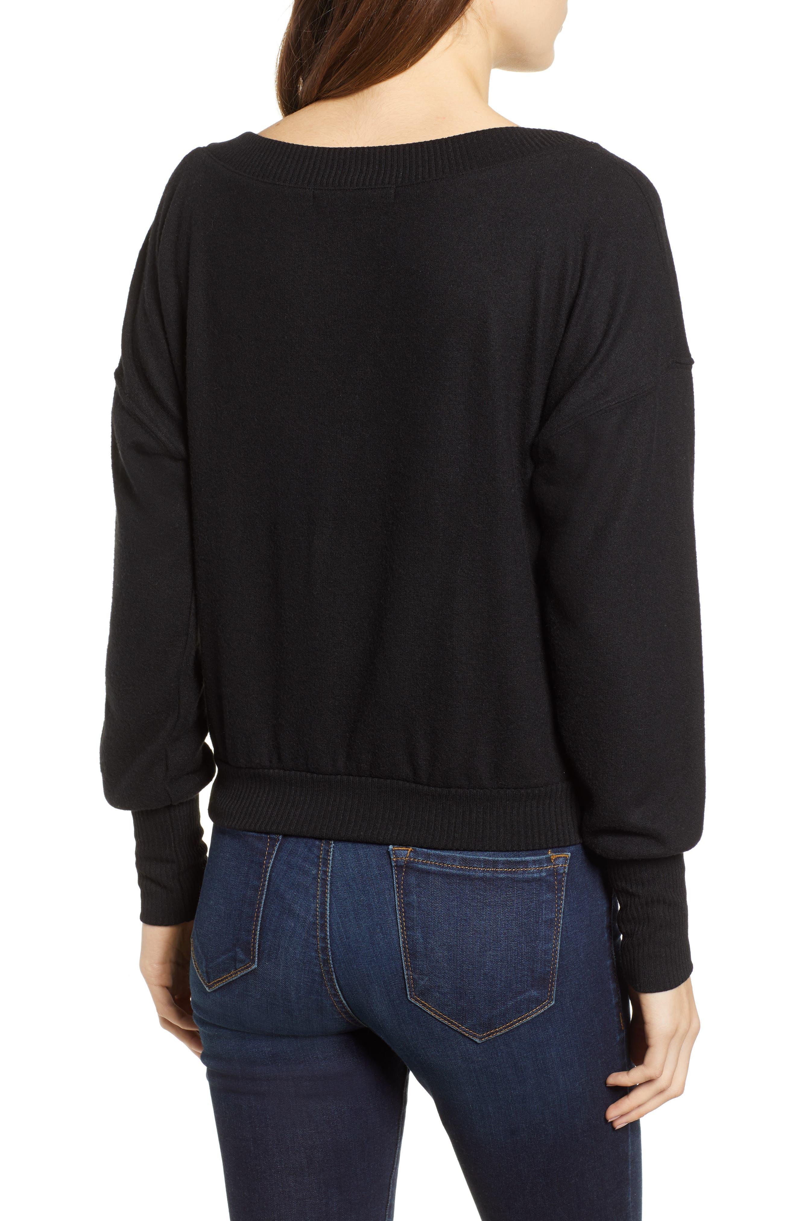 Darwin Cozy Sweatshirt,                             Alternate thumbnail 2, color,                             BLACK