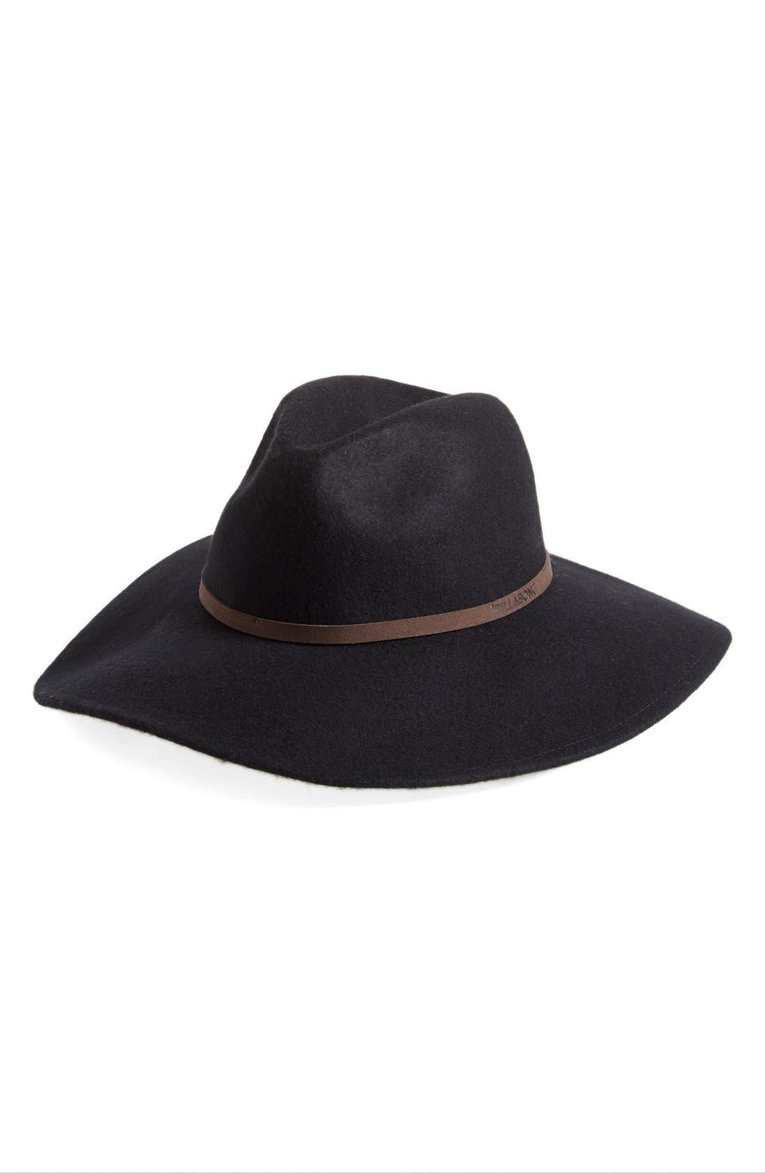 'Moon Gaze' Wool Panama Hat,                             Main thumbnail 1, color,                             015