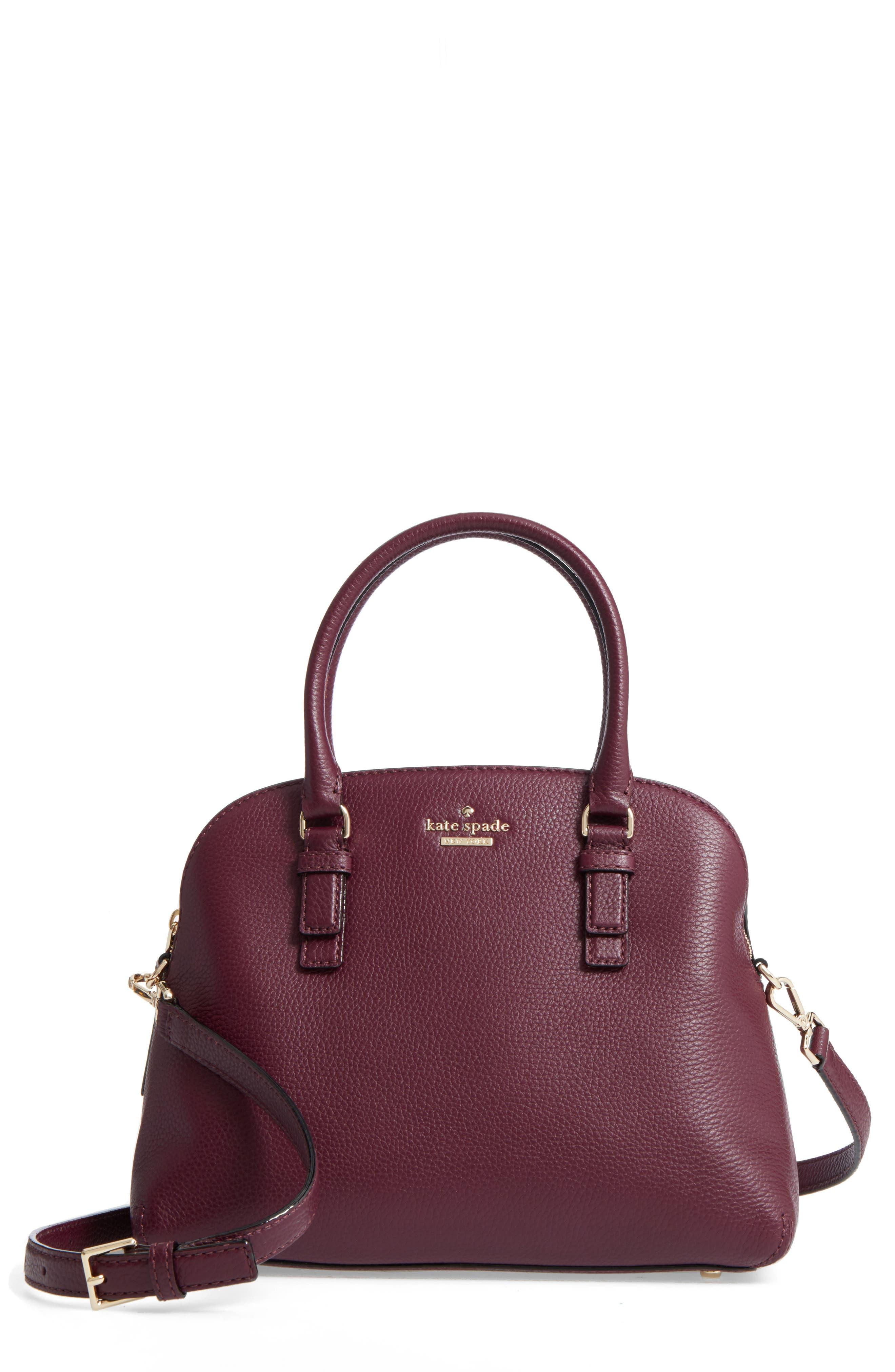 jackson street lottie leather satchel,                             Main thumbnail 3, color,