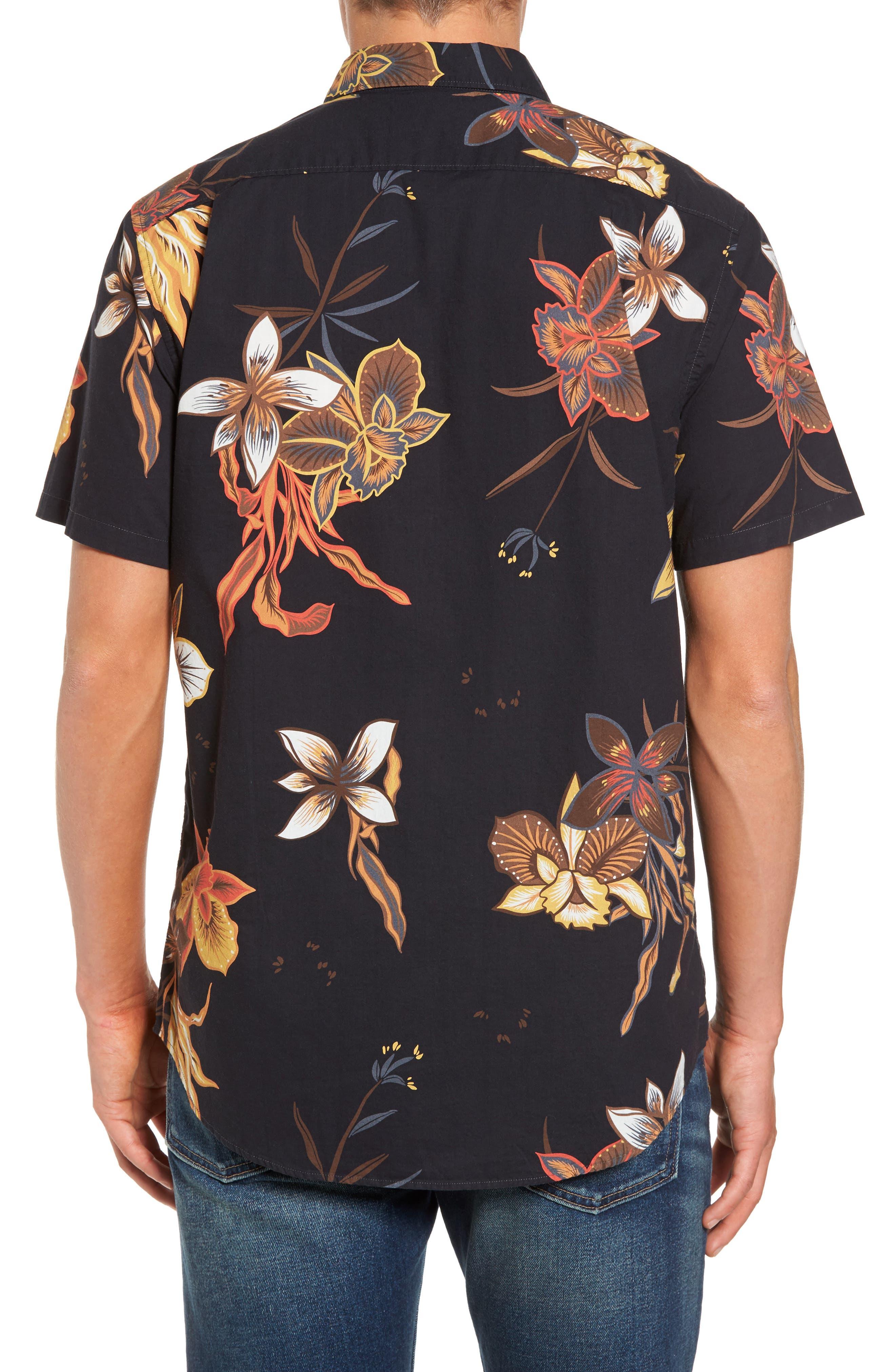Sunday Floral Woven Shirt,                             Alternate thumbnail 2, color,                             001