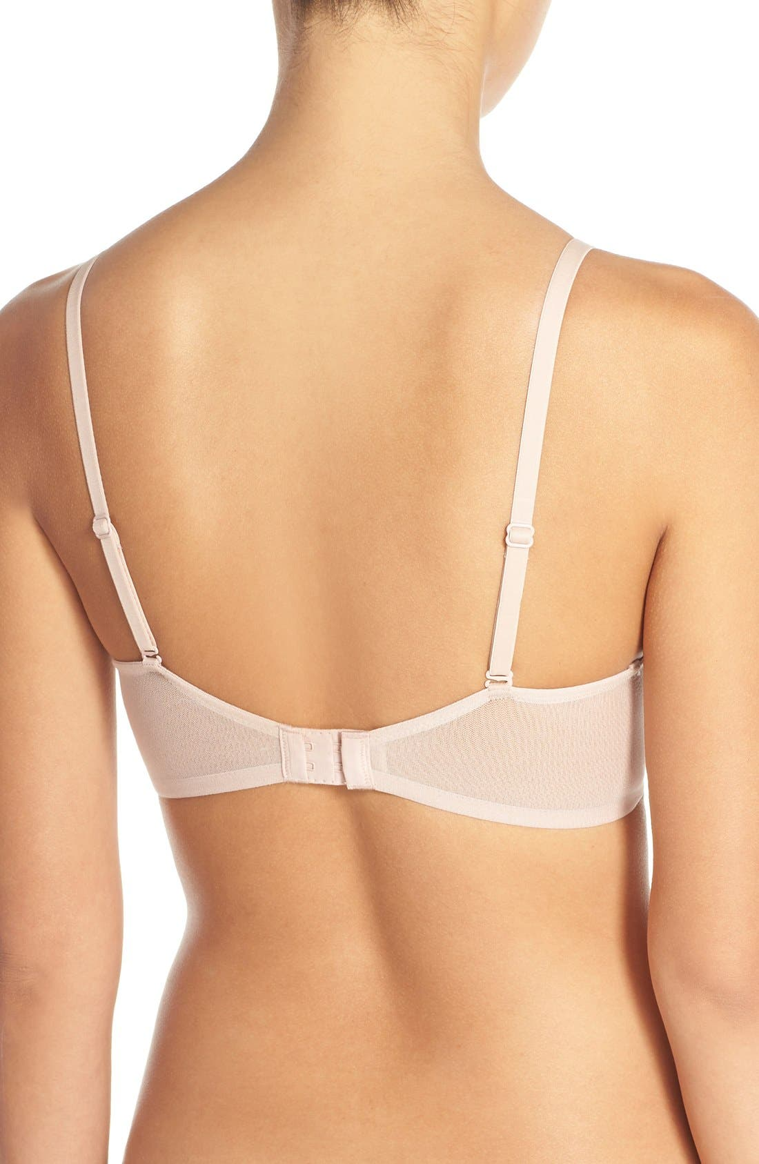ON GOSSAMER,                             Underwire Convertible T-Shirt Bra,                             Alternate thumbnail 3, color,                             CHAMPAGNE