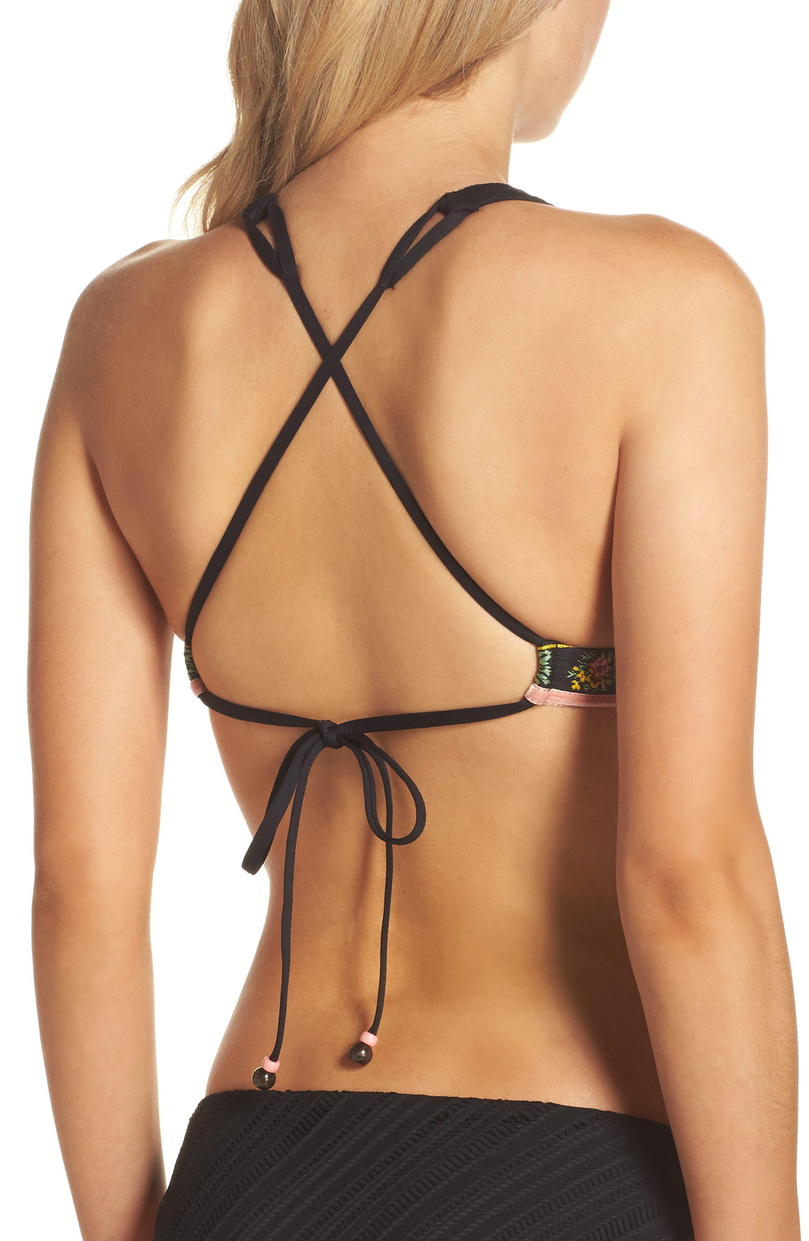 Fortune Teller Bikini Top,                             Alternate thumbnail 2, color,