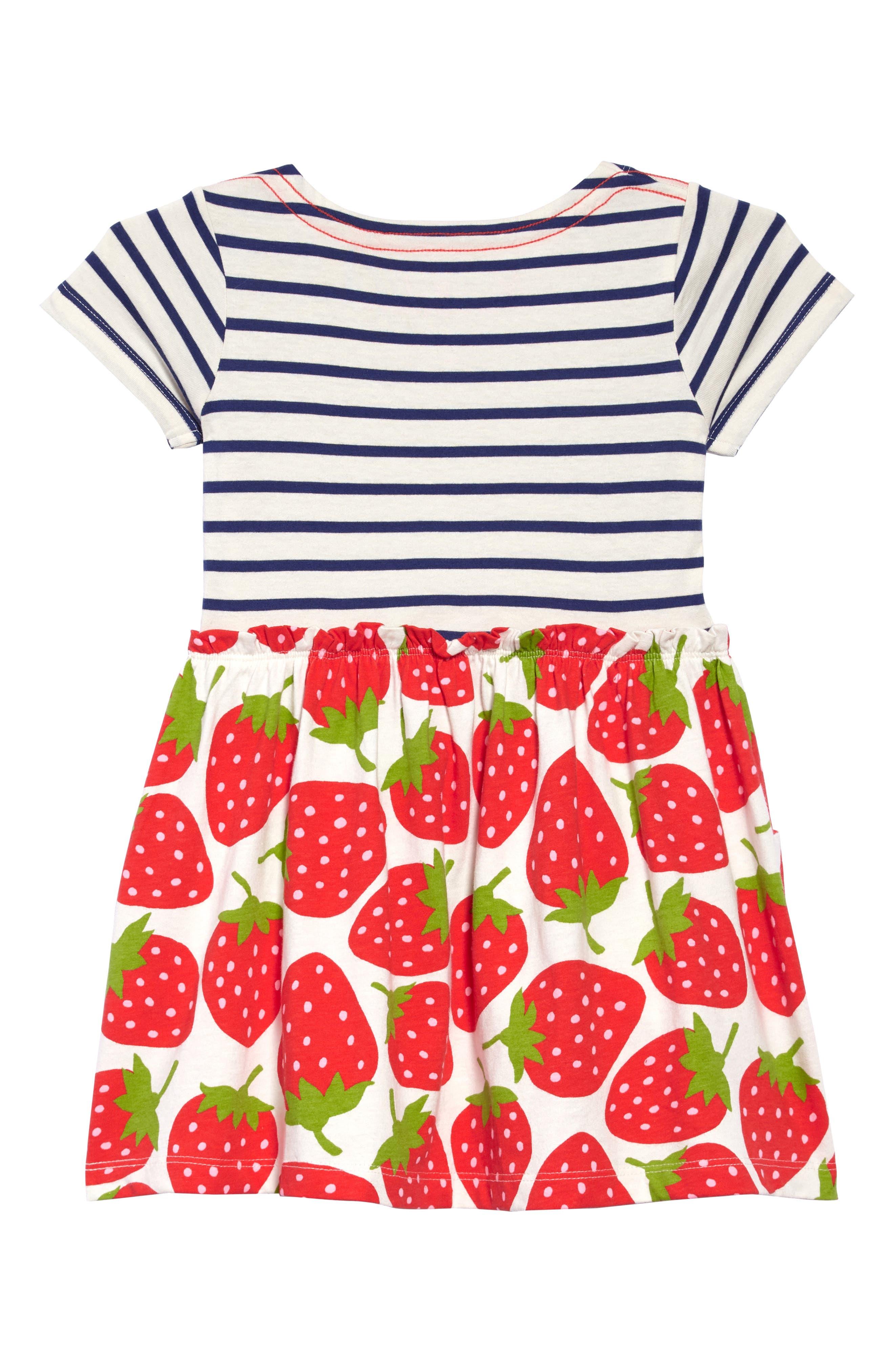 Stripe & Strawberries Print Dress,                             Alternate thumbnail 2, color,                             909