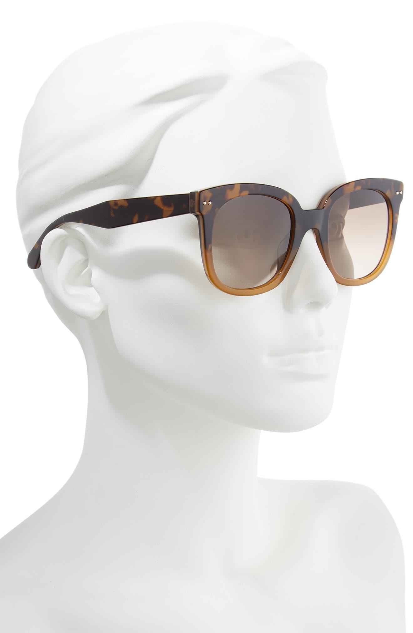 atalias 52mm square sunglasses,                             Alternate thumbnail 2, color,                             SHADE HAVANA BROWN
