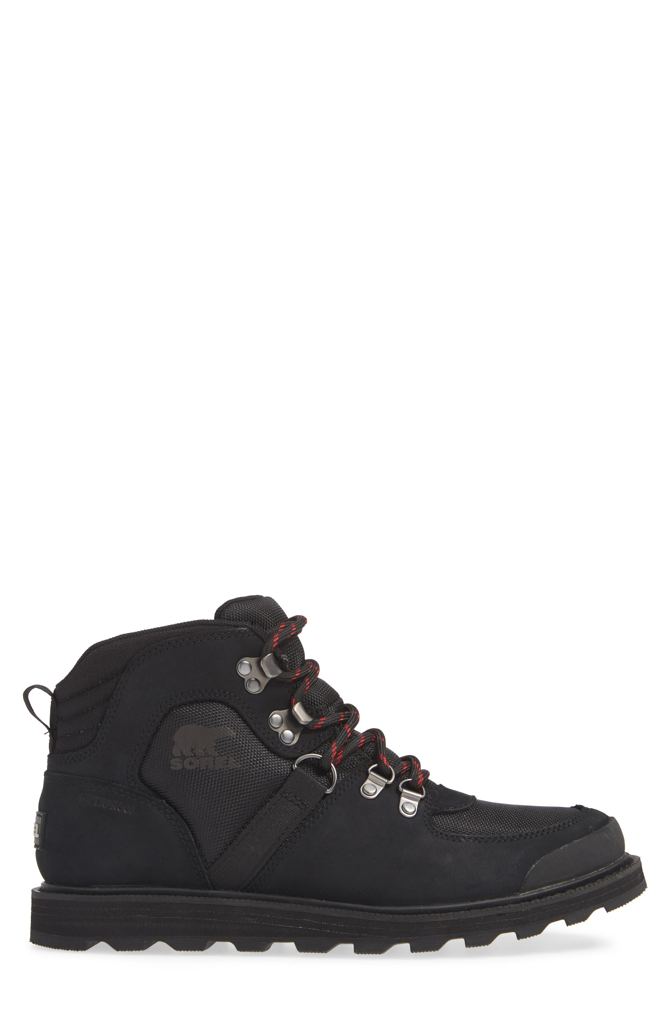 Madson Sport Waterproof Hiking Boot,                             Alternate thumbnail 3, color,                             BLACK