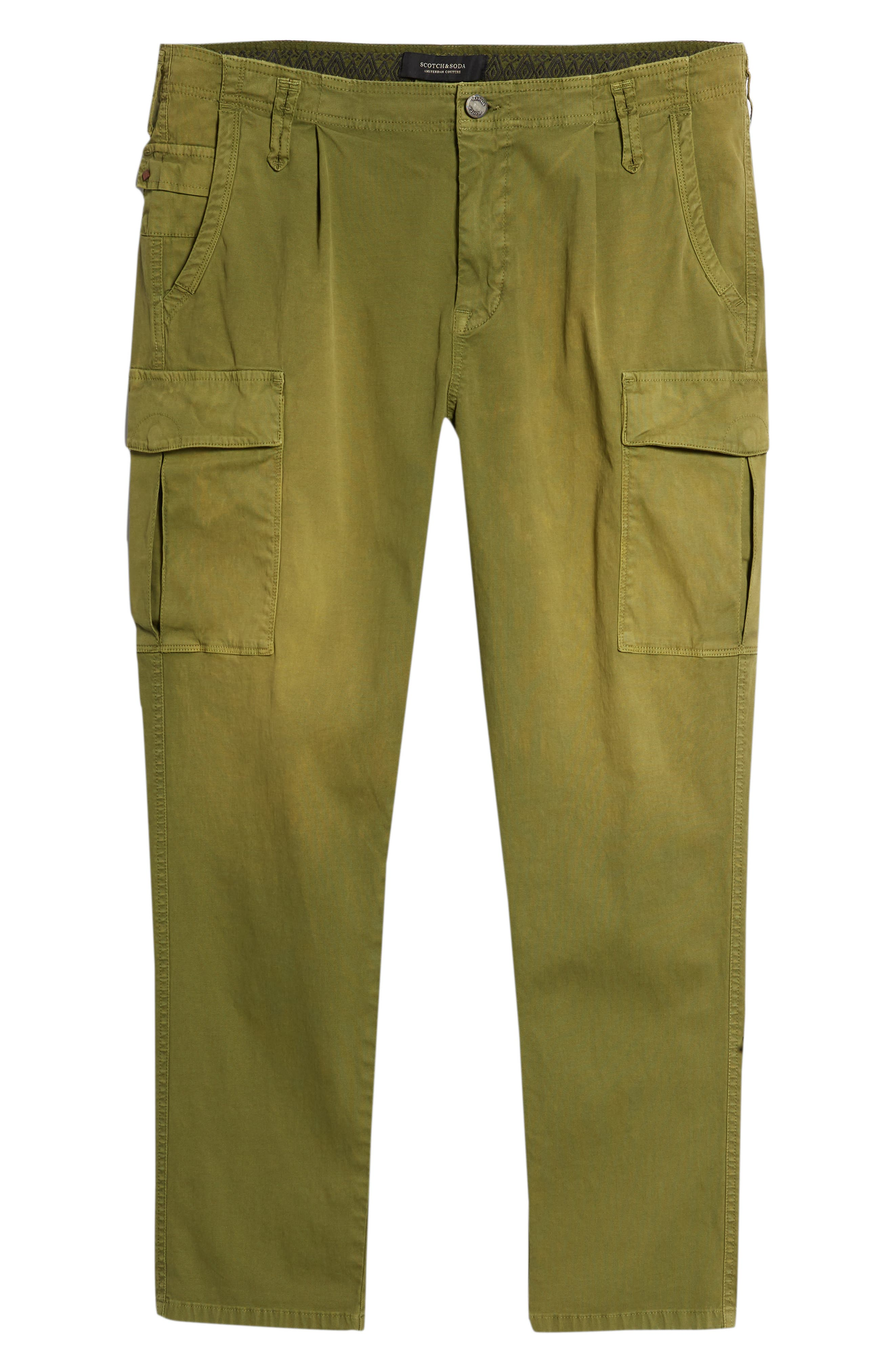 SCOTCH & SODA,                             Loose Taper Fit Washed Cargo Pants,                             Alternate thumbnail 6, color,                             MILITARY