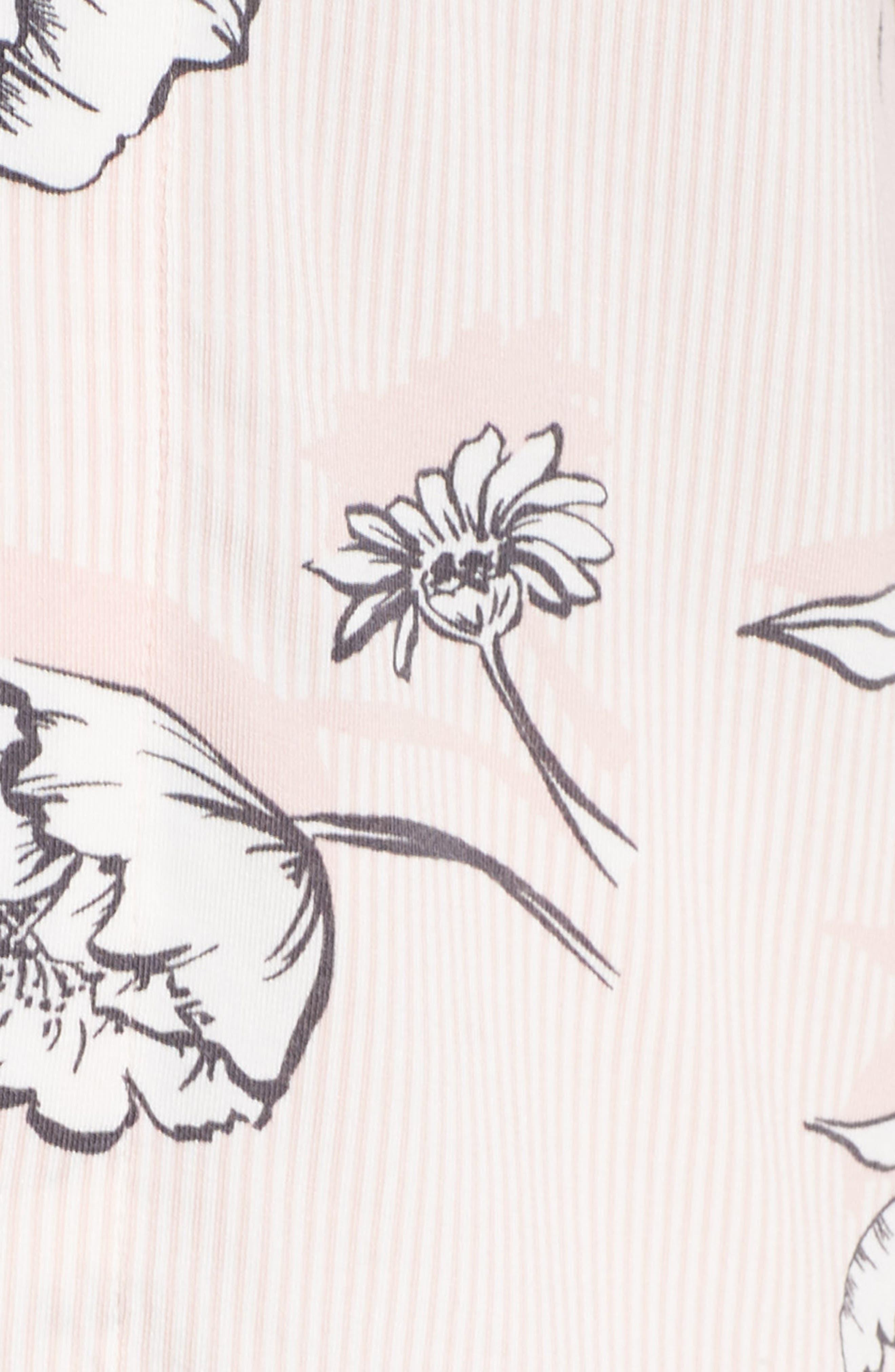 Shadow Floral Pajamas,                             Alternate thumbnail 5, color,                             650