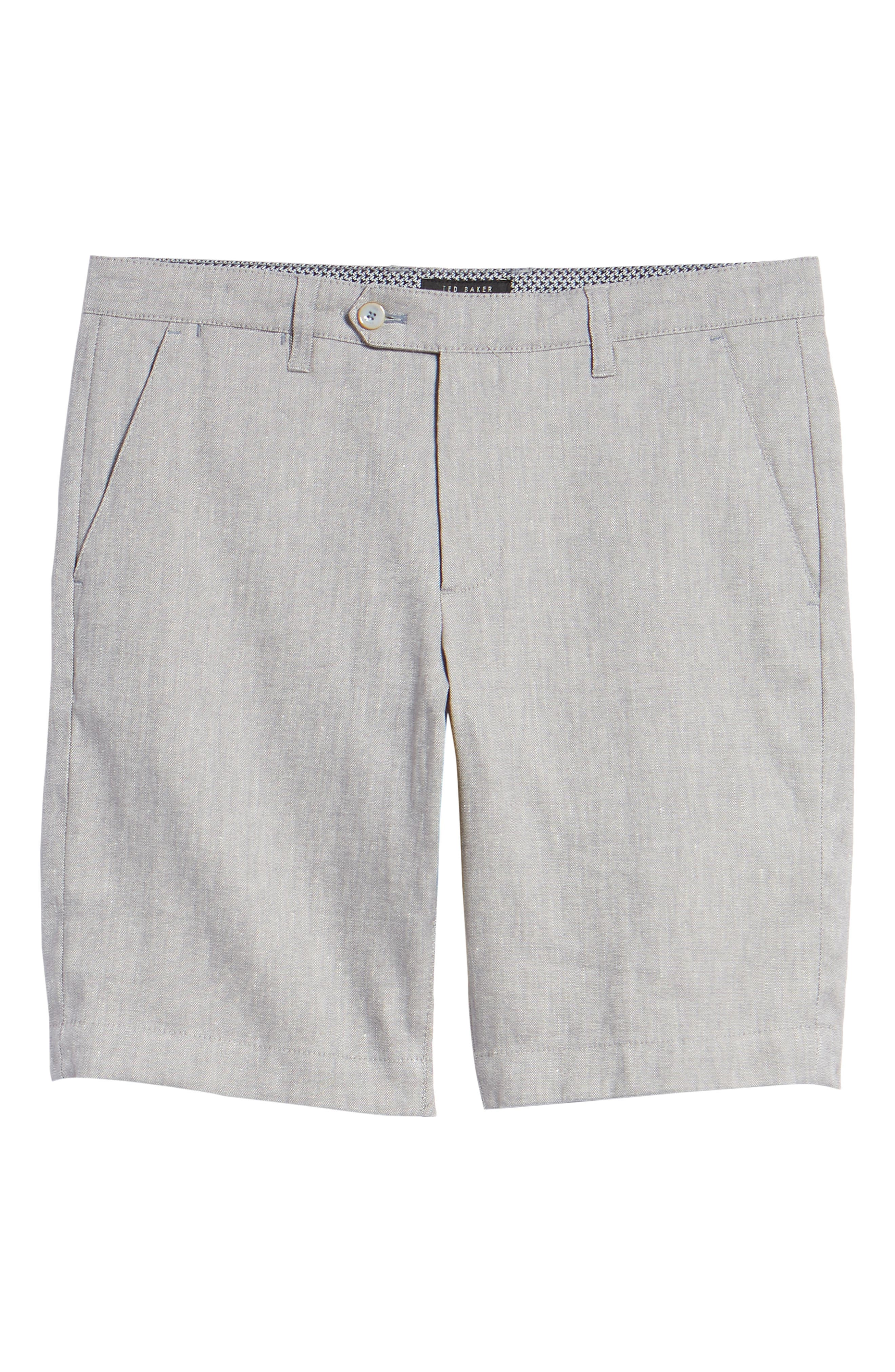 Newshow Flat Front Stretch Cotton Blend Shorts,                             Alternate thumbnail 6, color,                             050