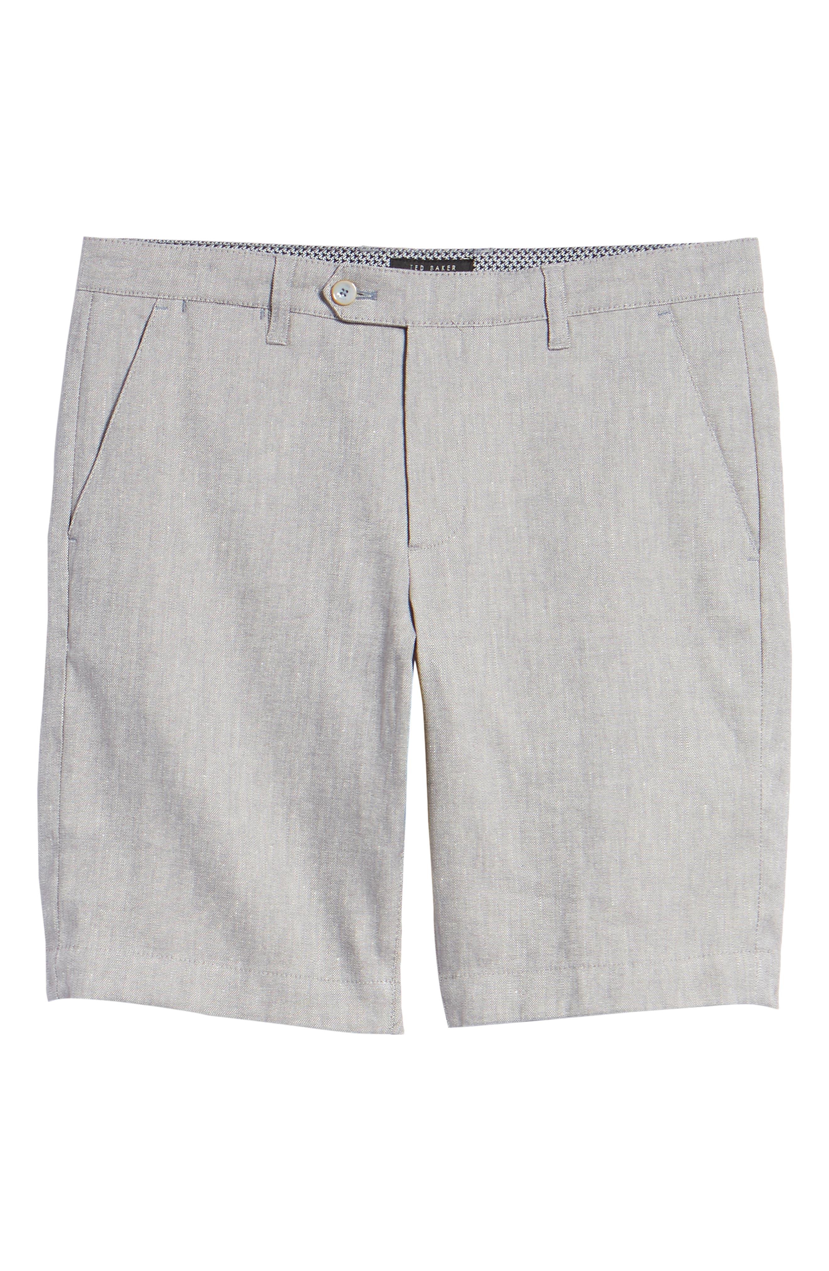 Newshow Flat Front Stretch Cotton Blend Shorts,                             Alternate thumbnail 6, color,                             GREY