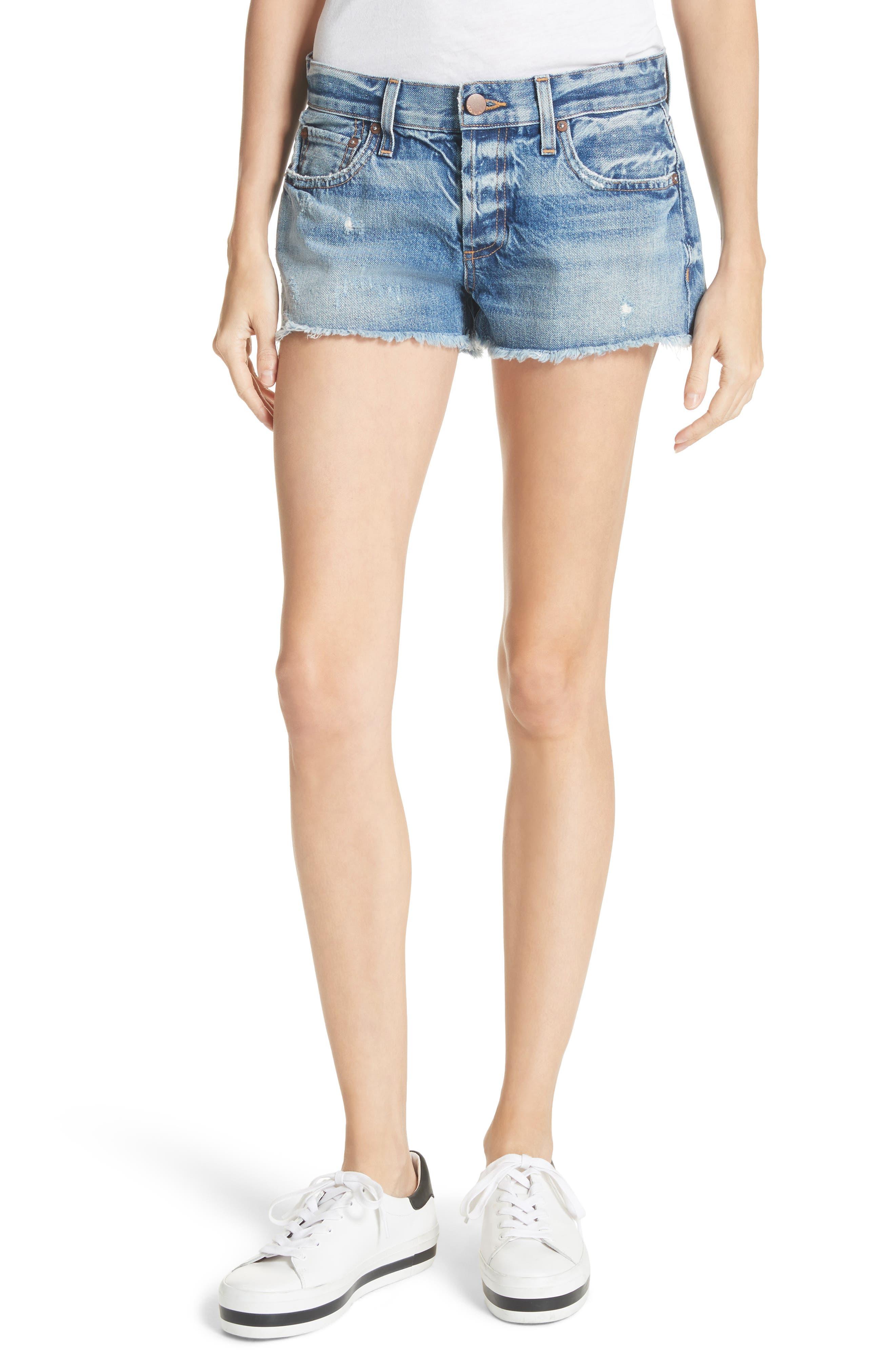 AO.LA Amazing Vintage Denim Shorts,                         Main,                         color, 415