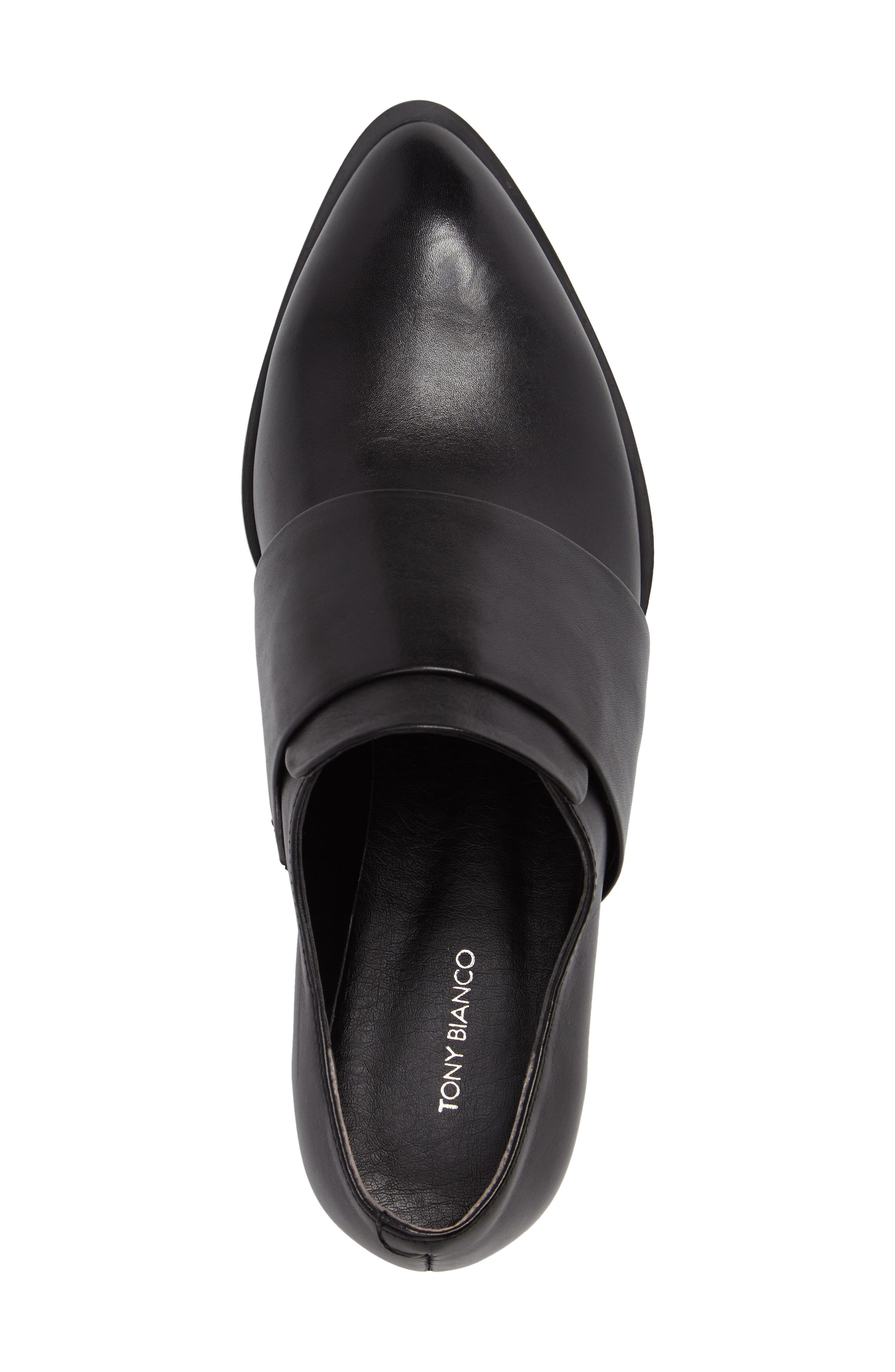 Dilla Loafer,                             Alternate thumbnail 5, color,                             BLACK CALAIS LEATHER