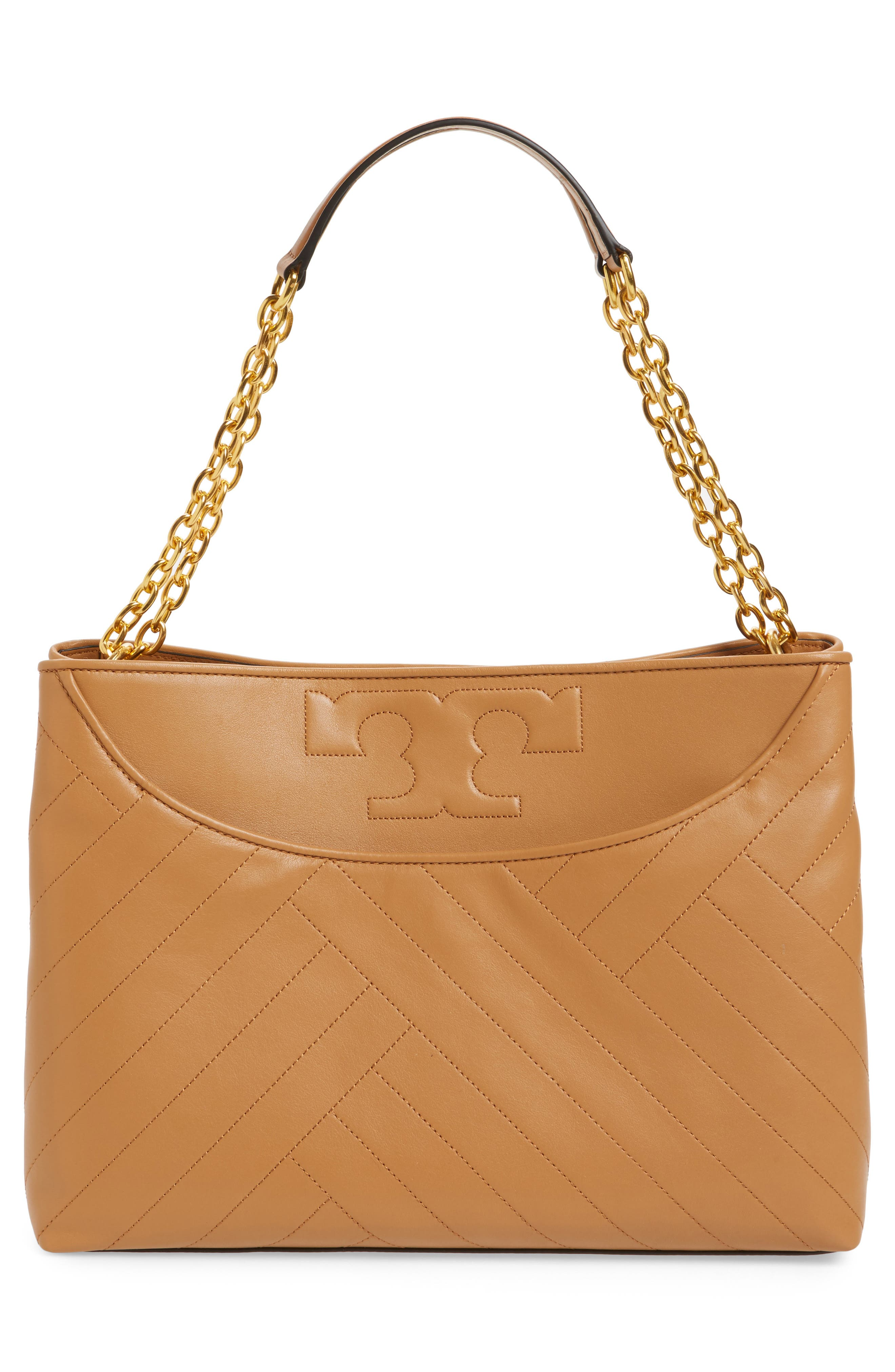 TORY BURCH,                             Alexa Leather Tote,                             Alternate thumbnail 3, color,                             200