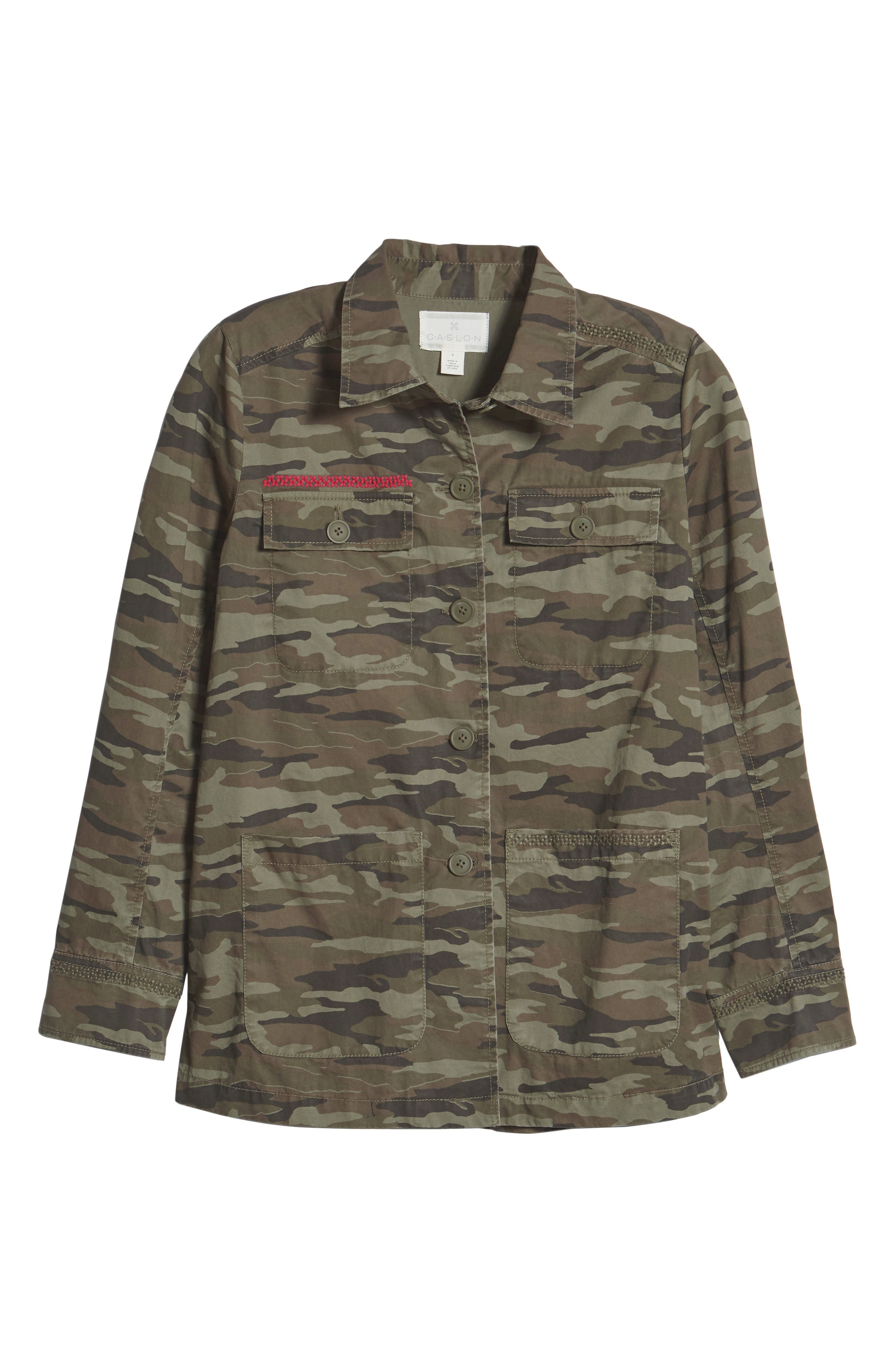 Utility Jacket,                             Alternate thumbnail 6, color,                             OLIVE CAMO PRINT