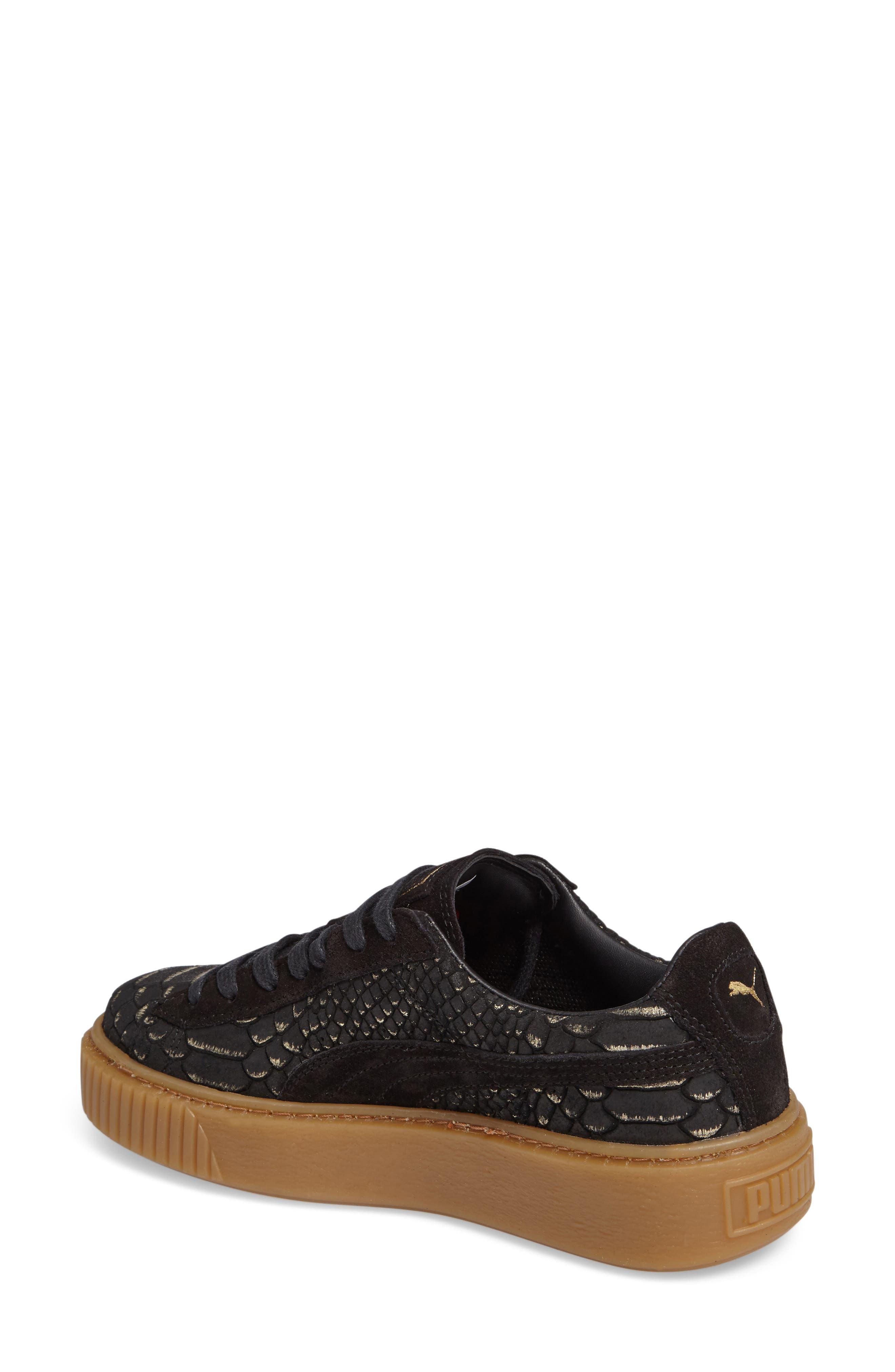 Exotic Skin Platform Sneaker,                             Alternate thumbnail 2, color,                             001