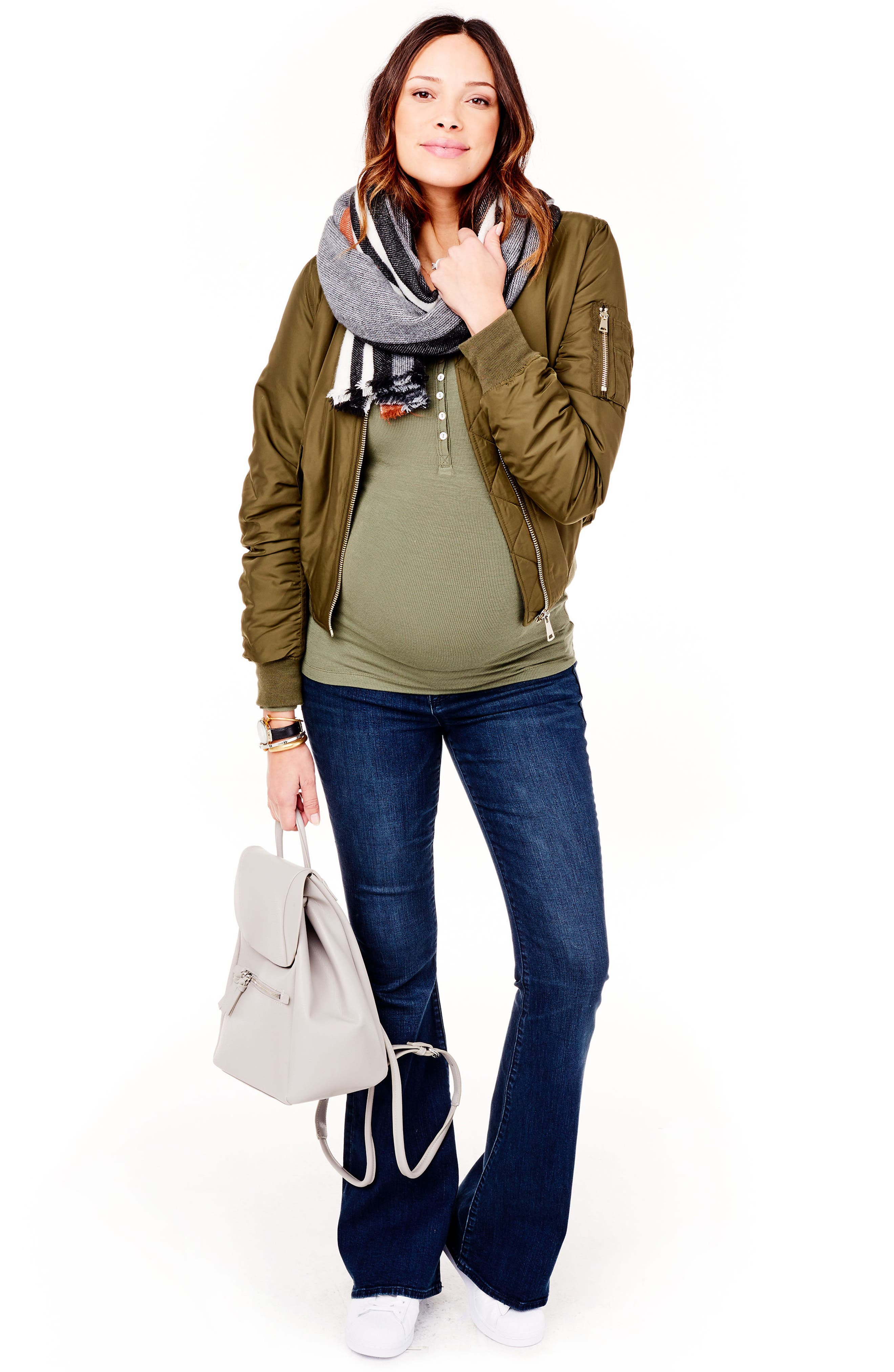 Gracie Flare Maternity Jeans,                             Alternate thumbnail 5, color,