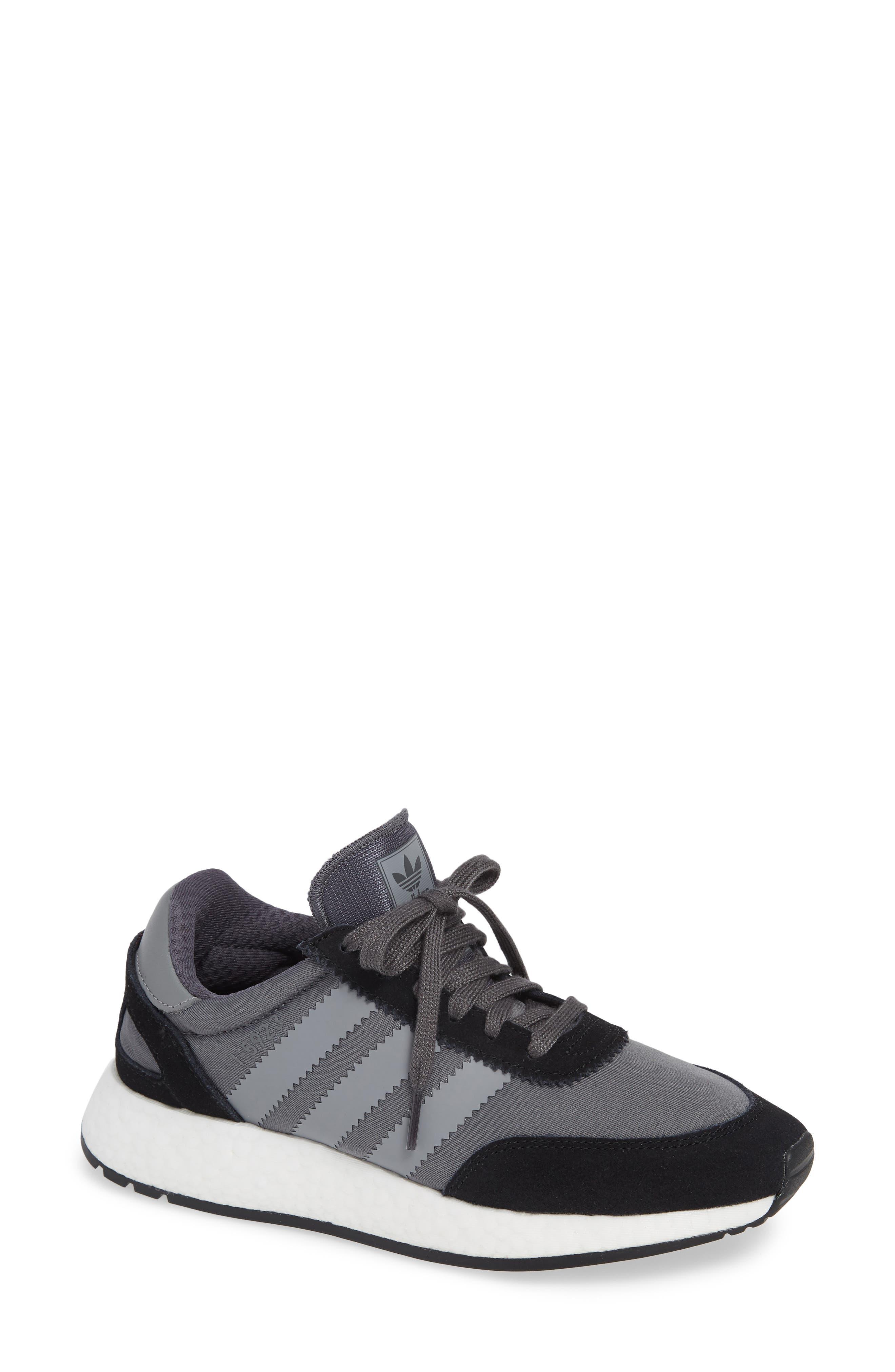 I-5923 Sneaker,                             Main thumbnail 1, color,                             BLACK/ GREY THREE/ GREY FIVE