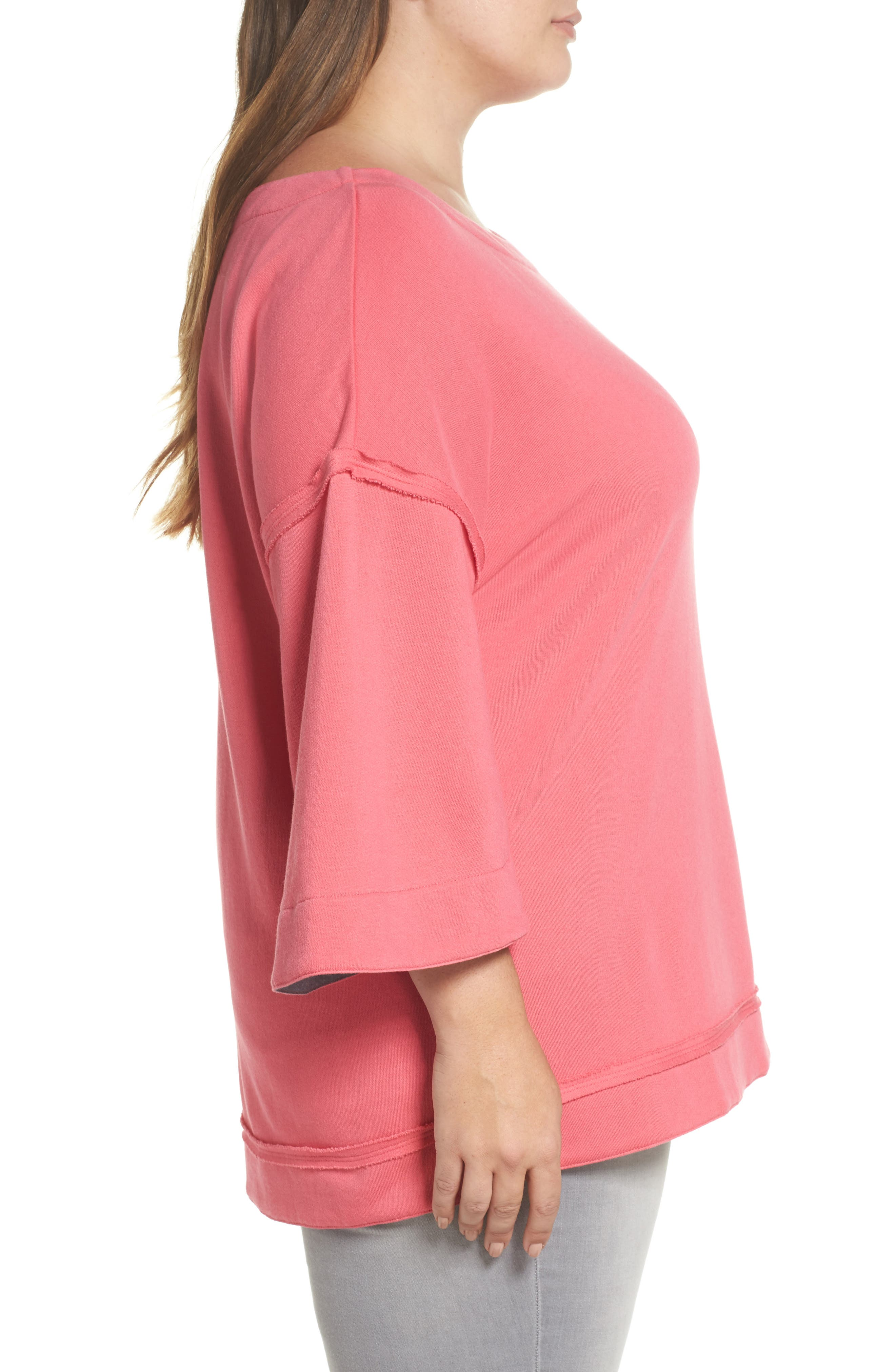 Split Sleeve Sweatshirt,                             Alternate thumbnail 10, color,