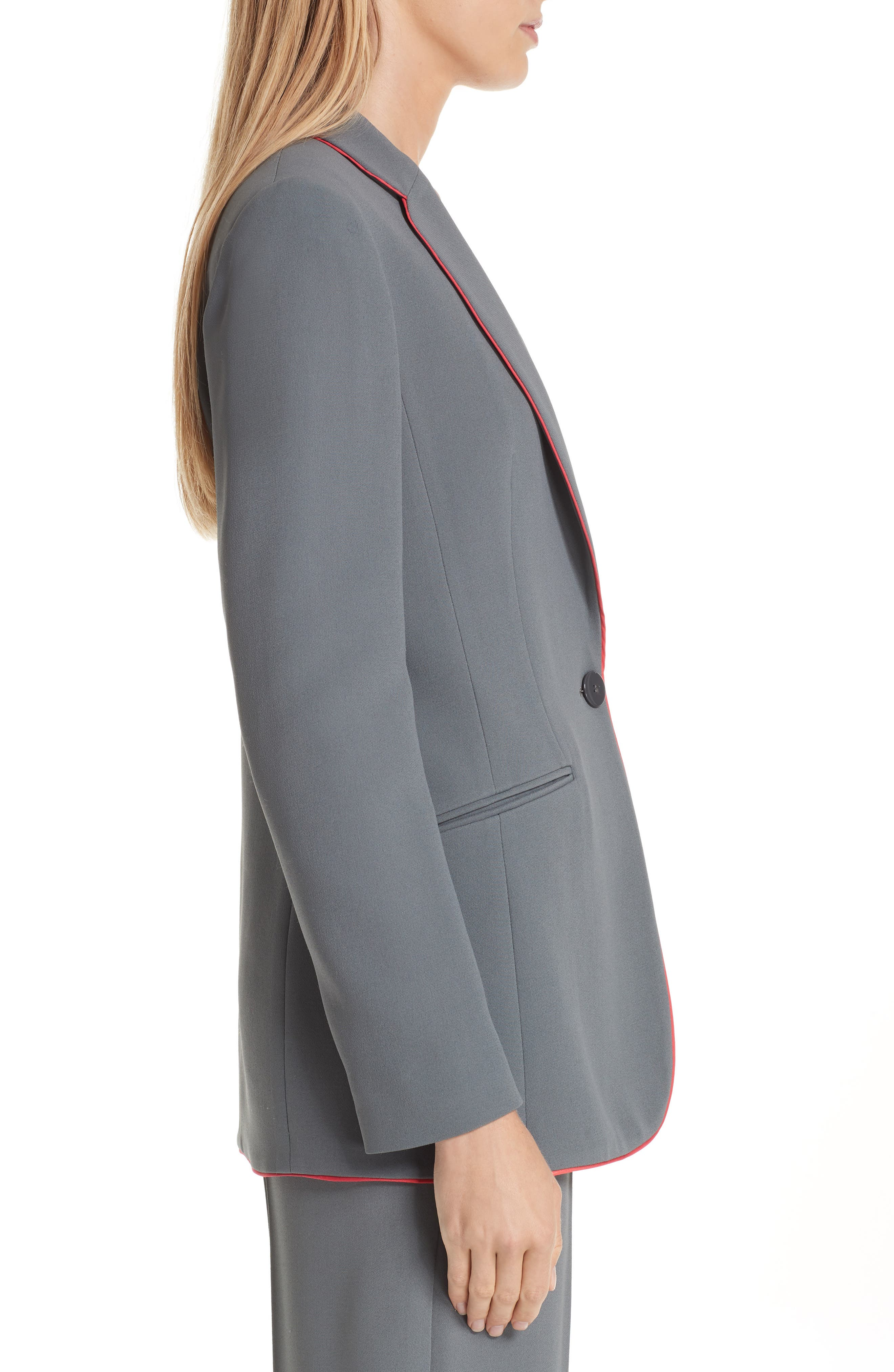 Piped Woven Jacket,                             Alternate thumbnail 3, color,                             ROCCIA