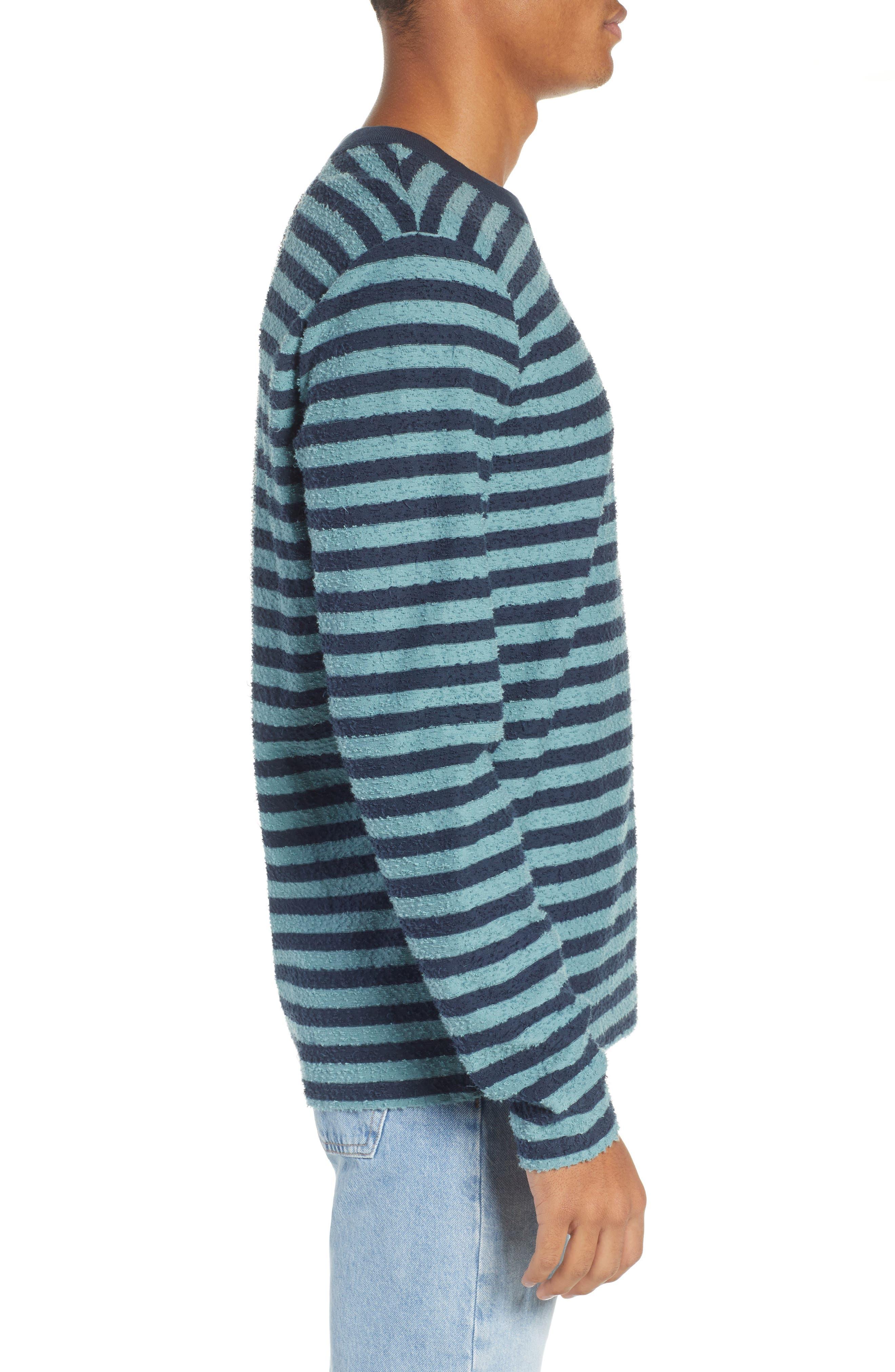 Stripe Slub T-Shirt,                             Alternate thumbnail 3, color,                             ARCTIC TONY
