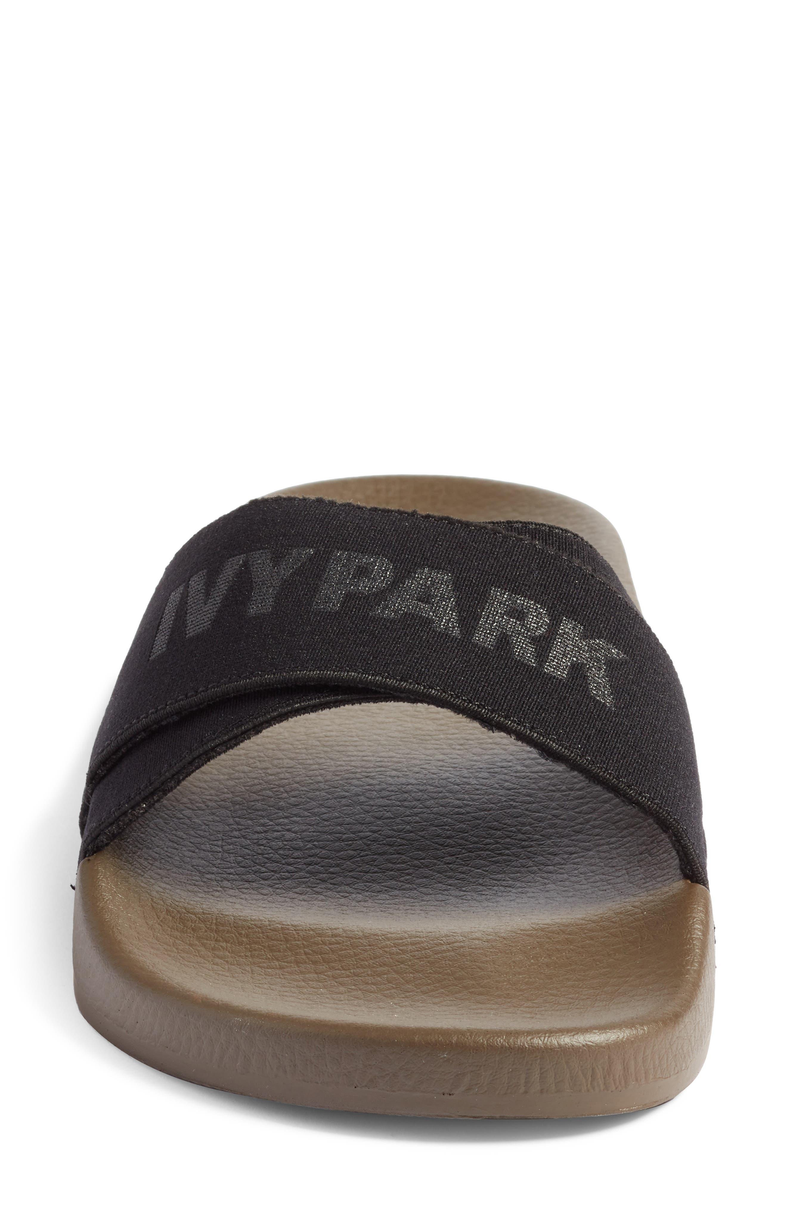 Logo Tape Slide Sandal,                             Alternate thumbnail 4, color,                             300