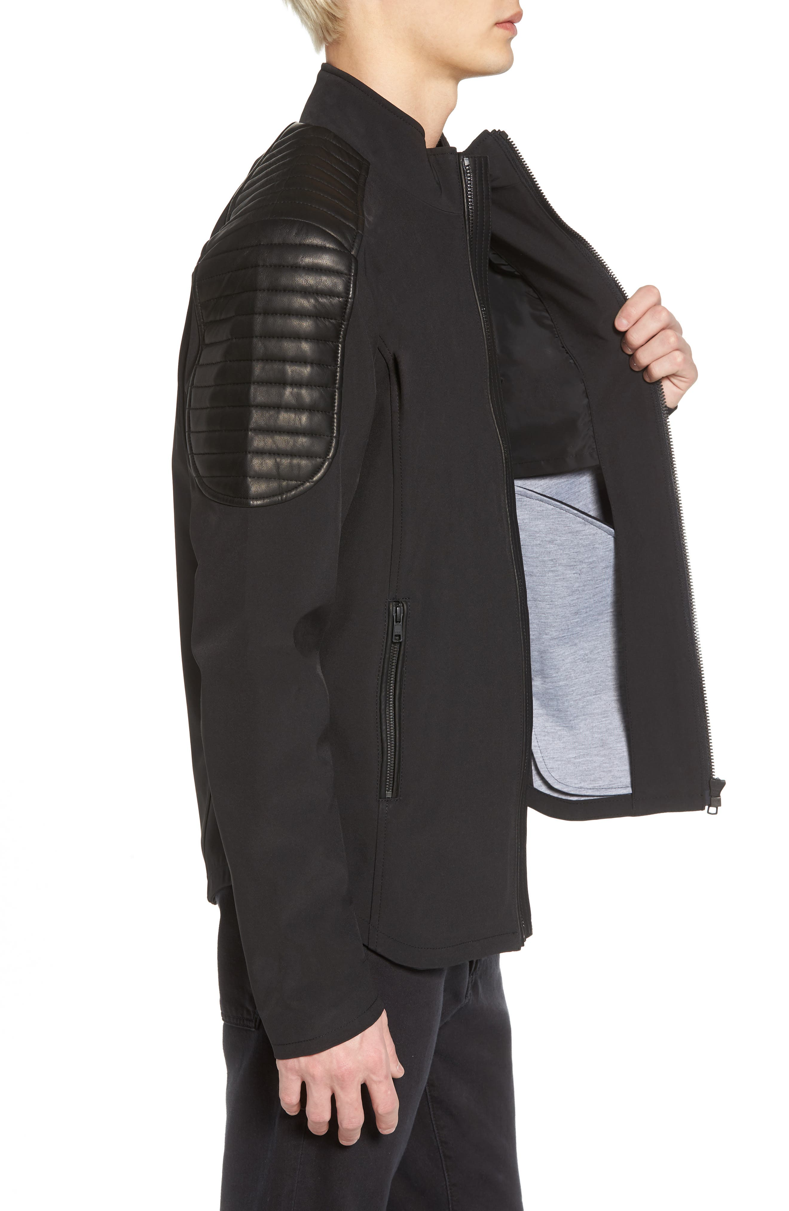 Grindstone Water Repellent Jacket,                             Alternate thumbnail 3, color,                             001