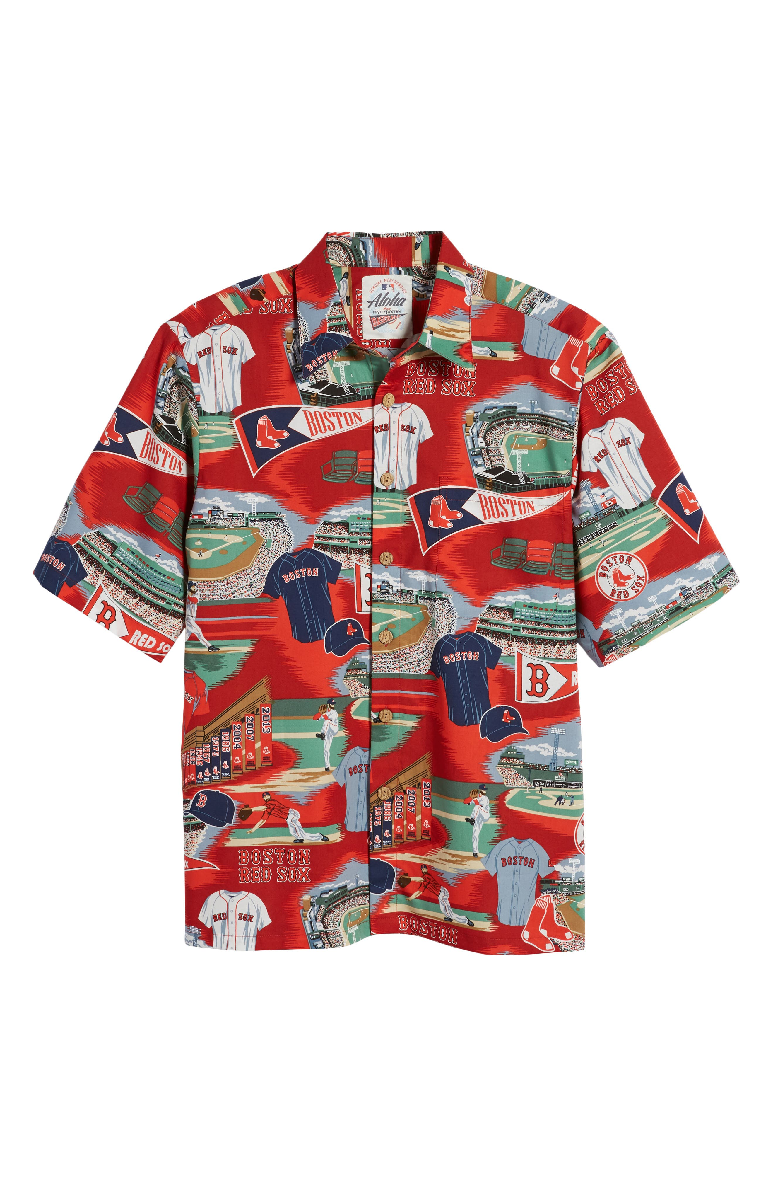 Boston Red Sox Classic Fit Camp Shirt,                             Alternate thumbnail 6, color,                             115