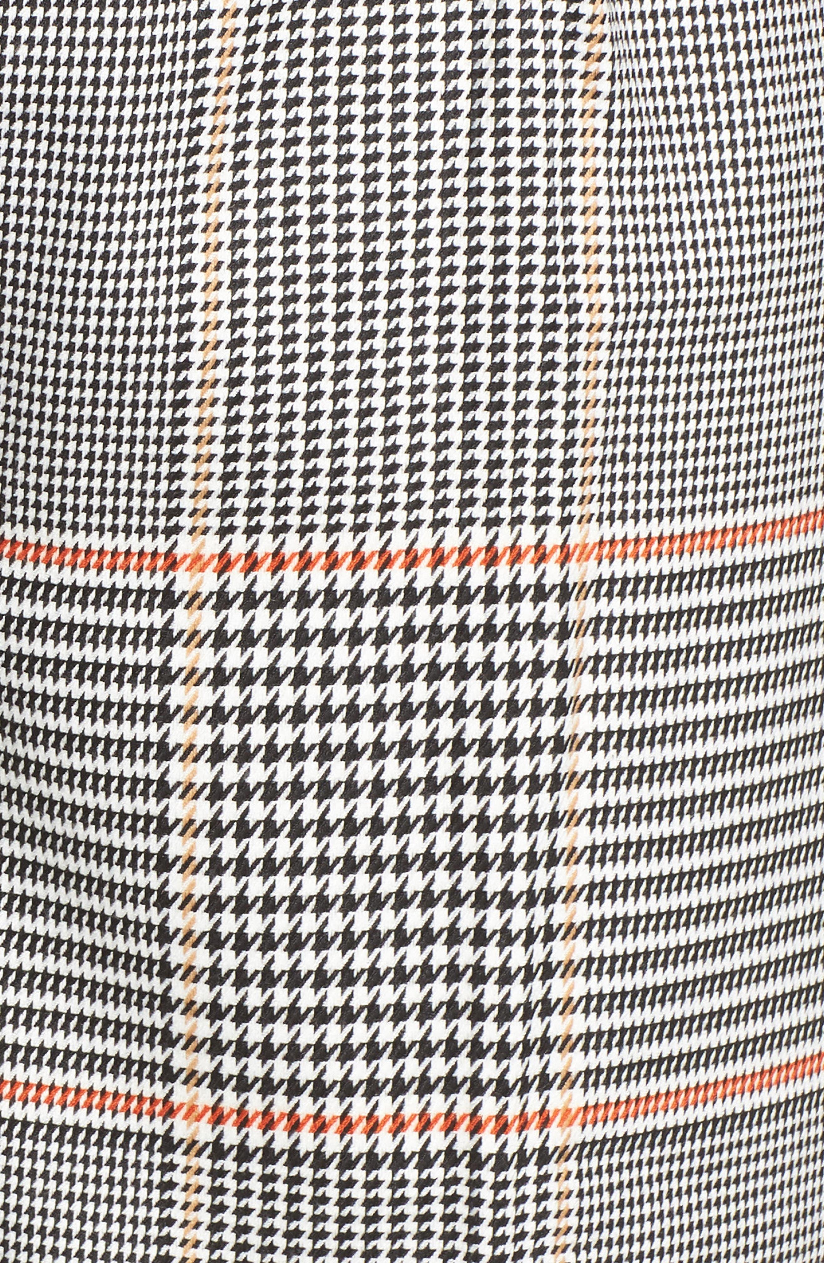 x Atlantic-Pacific Plaid Wide Leg Crop Pants,                             Alternate thumbnail 6, color,                             BLACK PLAID